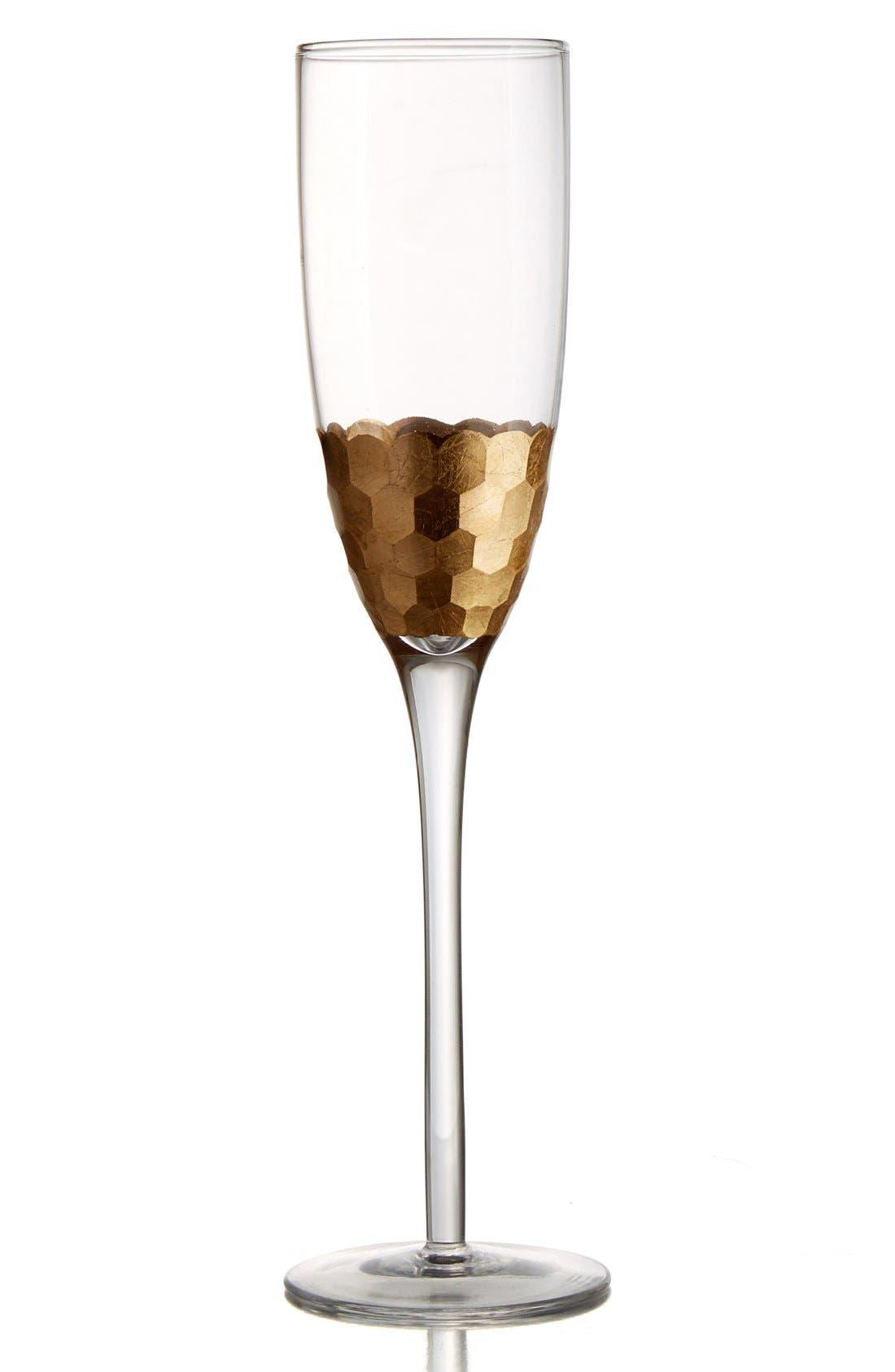 'Daphne' Champagne Flutes,                             Main thumbnail 1, color,                             GOLD