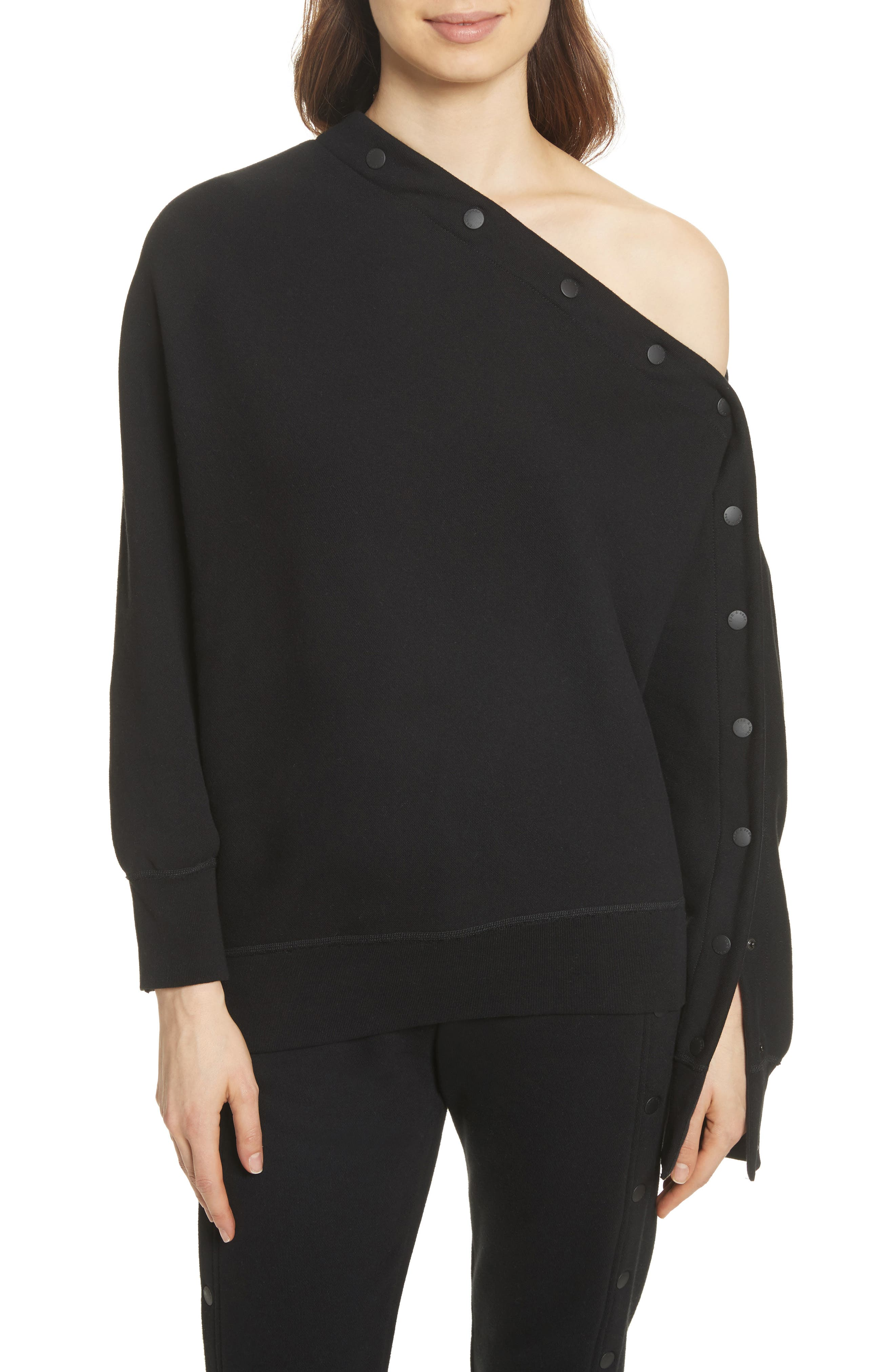 Kate Side Snap Cold Shoulder Sweatshirt,                             Main thumbnail 1, color,