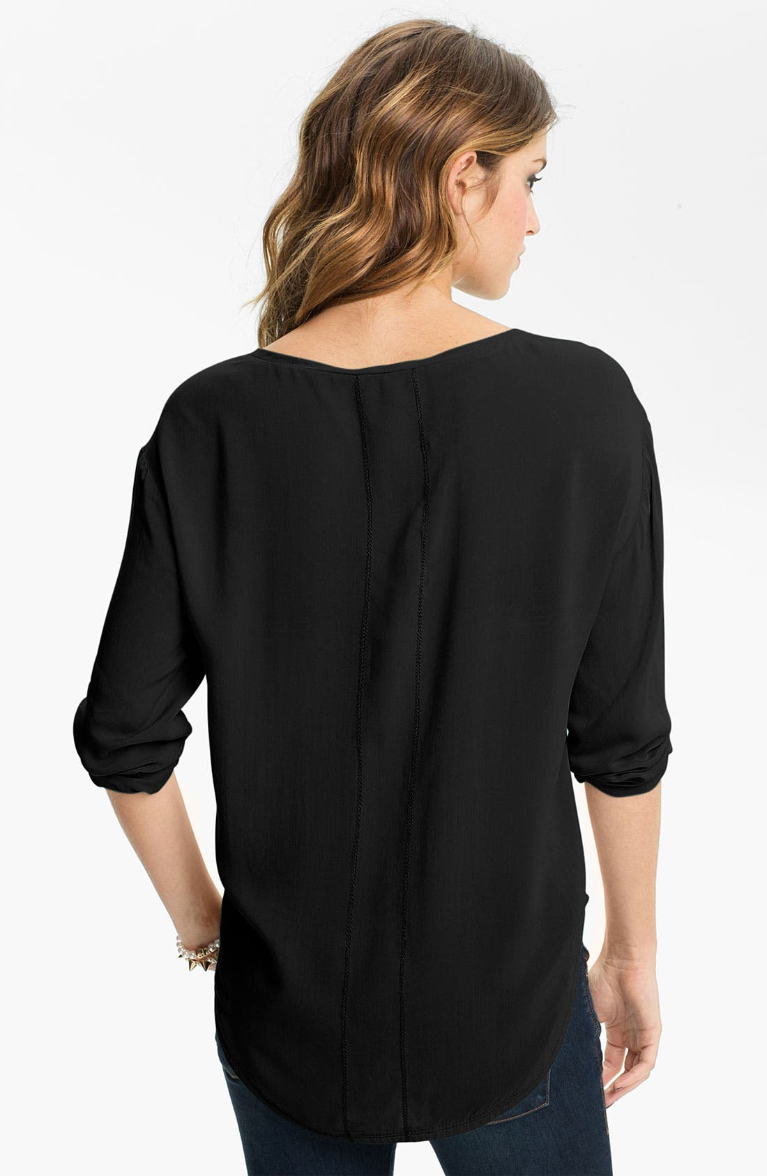 Relaxed Woven Top,                             Alternate thumbnail 2, color,                             001