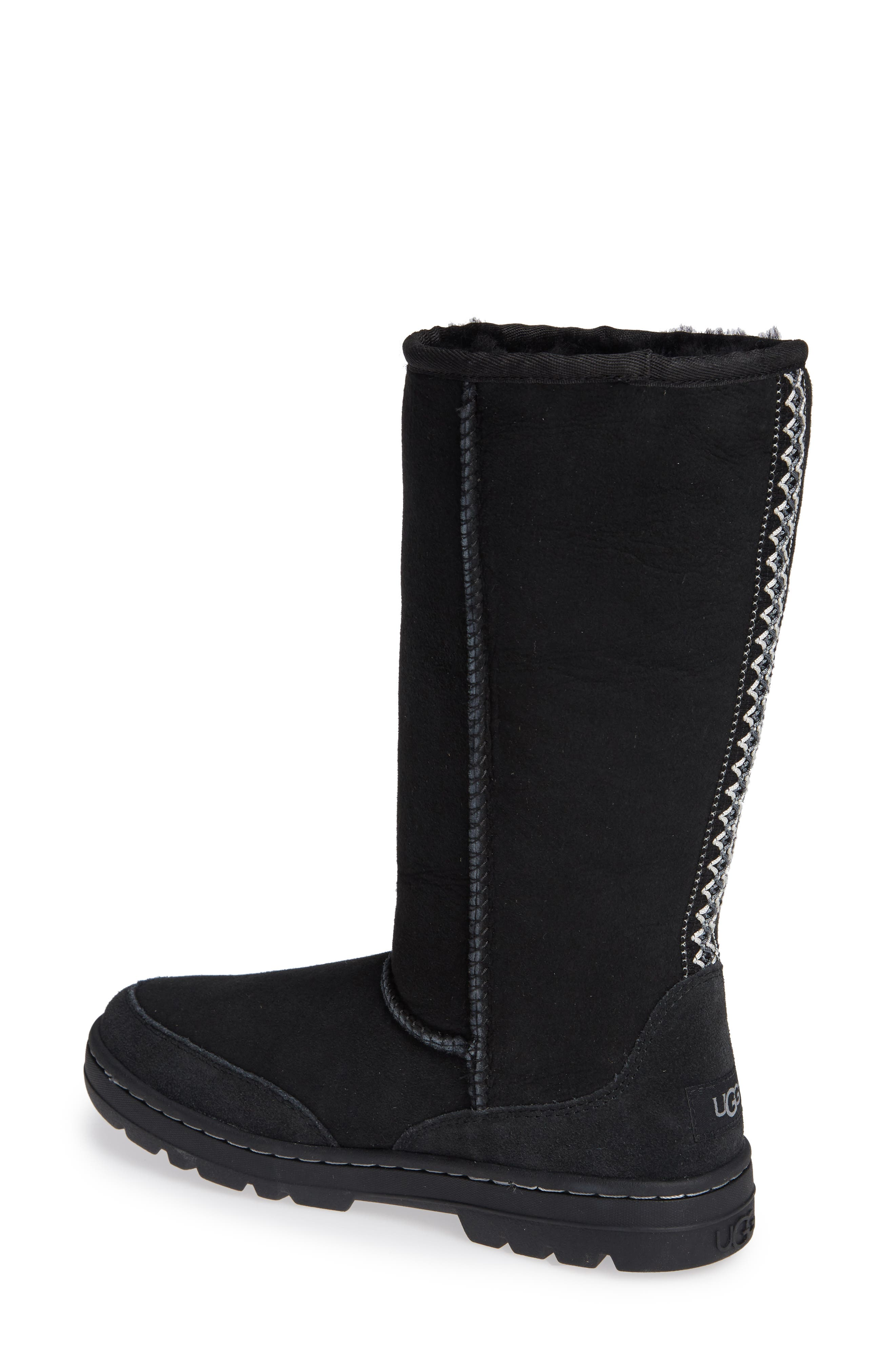 UGG<SUP>®</SUP>,                             Ultra Revival Genuine Shearling Tall Boot,                             Alternate thumbnail 2, color,                             001