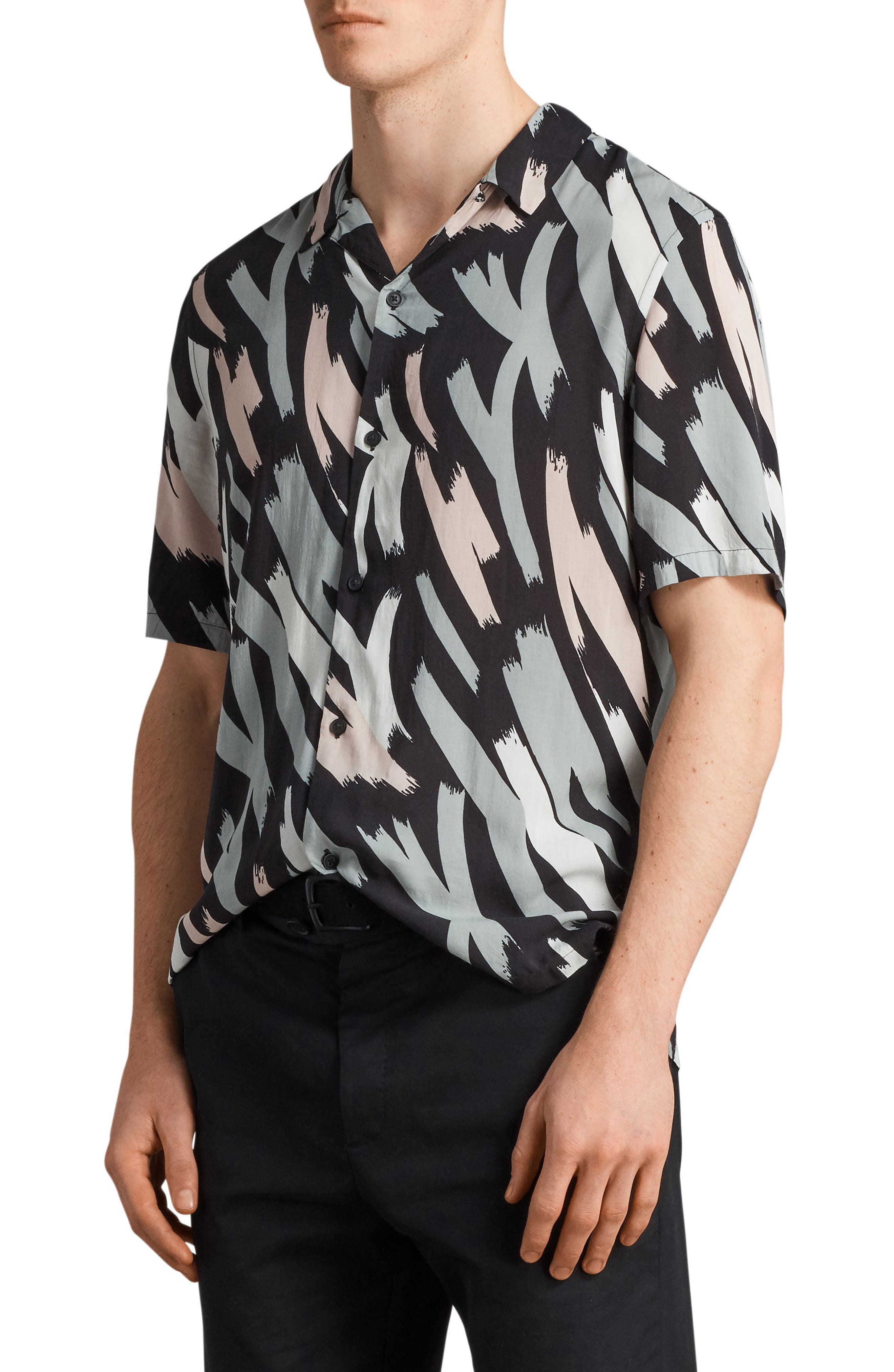 Koloa Slim Fit Short Sleeve Sport Shirt,                             Alternate thumbnail 3, color,                             008