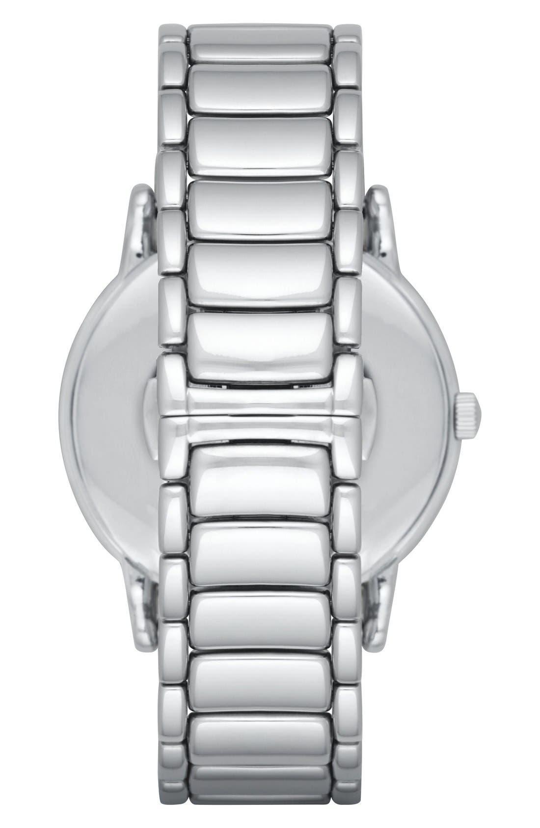 Bracelet Watch, 43mm,                             Alternate thumbnail 3, color,                             SILVER/ BLACK
