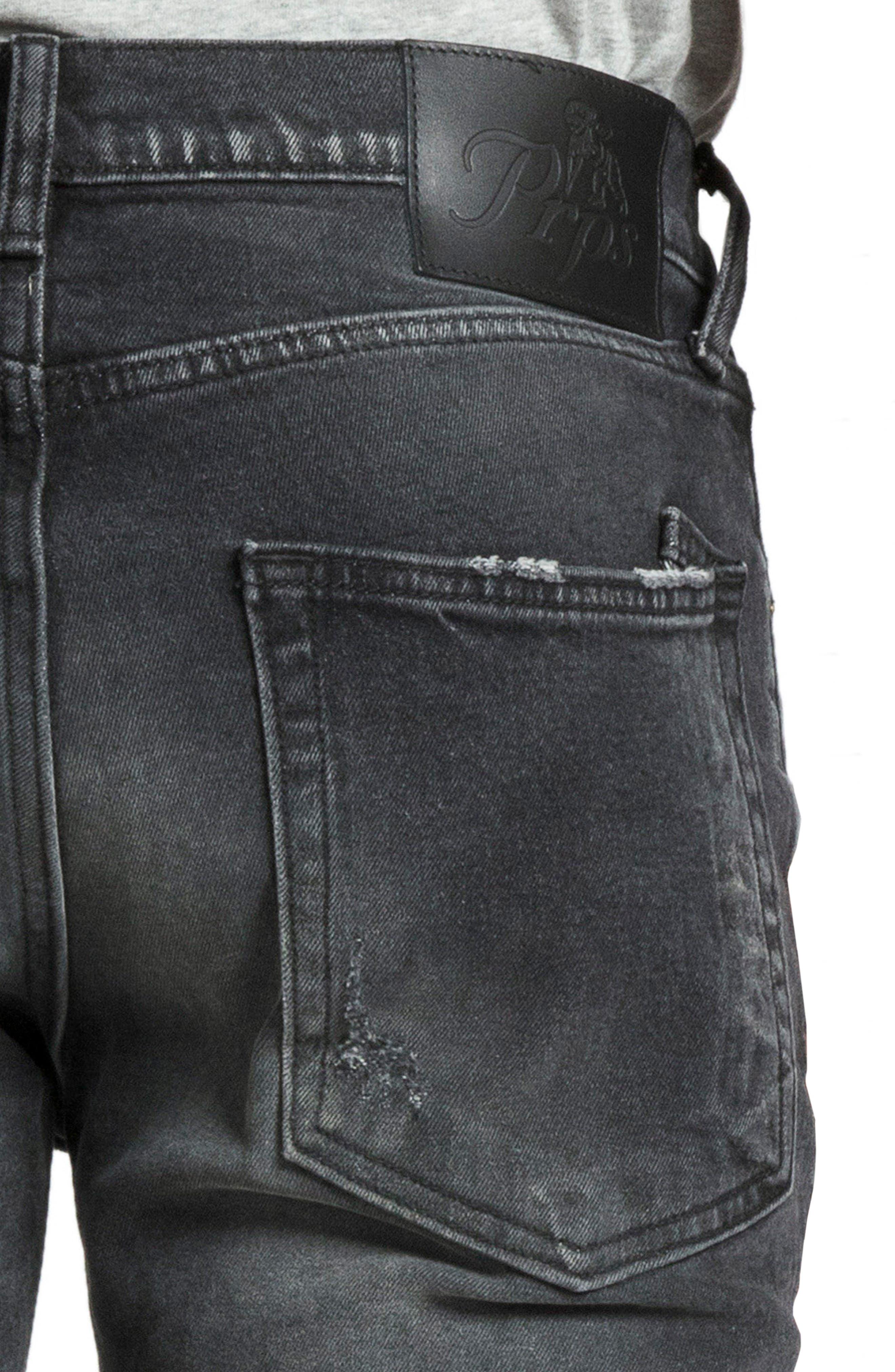 Windsor Skinny Fit Jeans,                             Alternate thumbnail 4, color,                             RESOLUTE