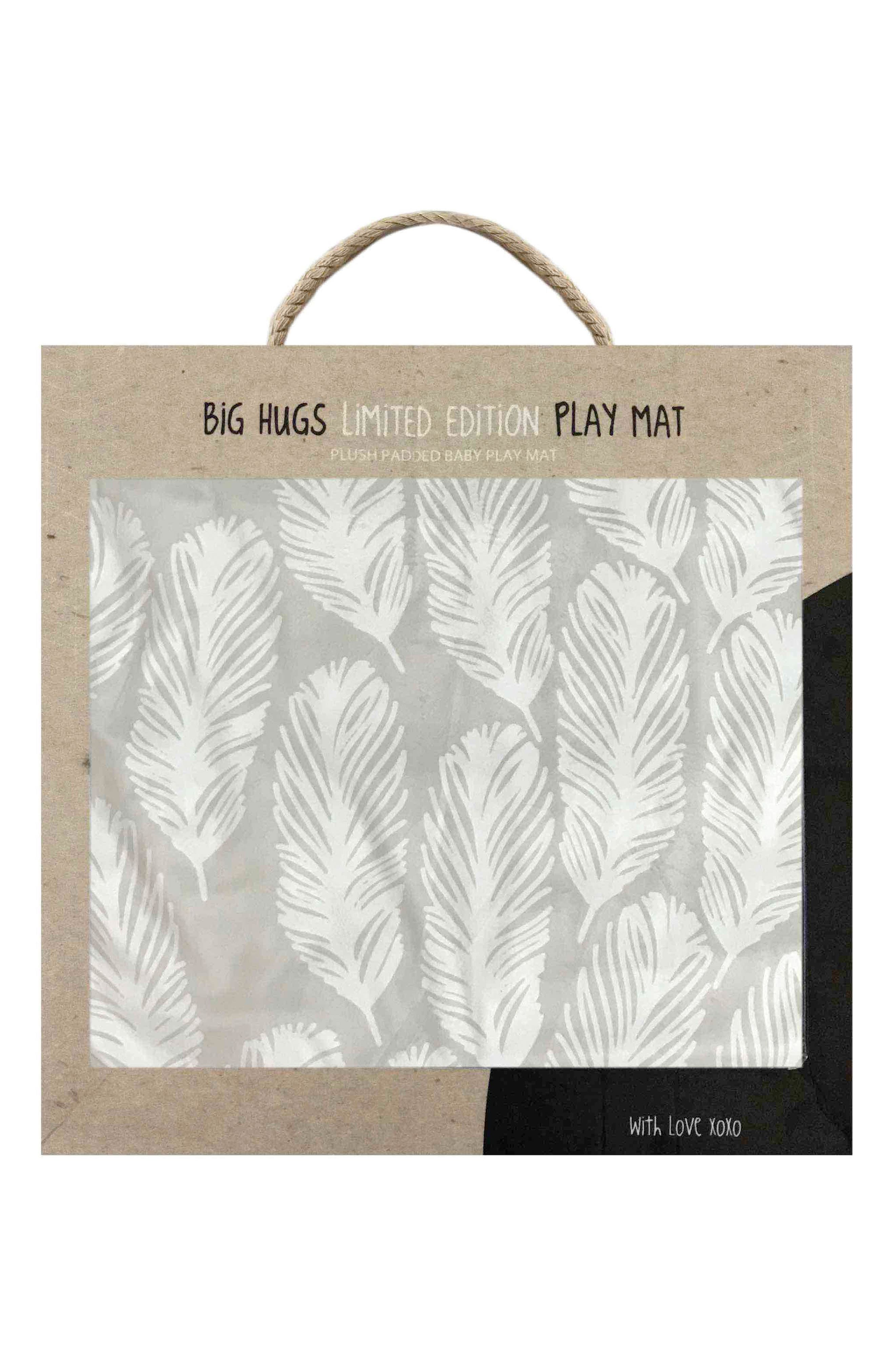 Feathers & Forest Play Mat,                             Alternate thumbnail 2, color,                             TAUPE AND WHITE