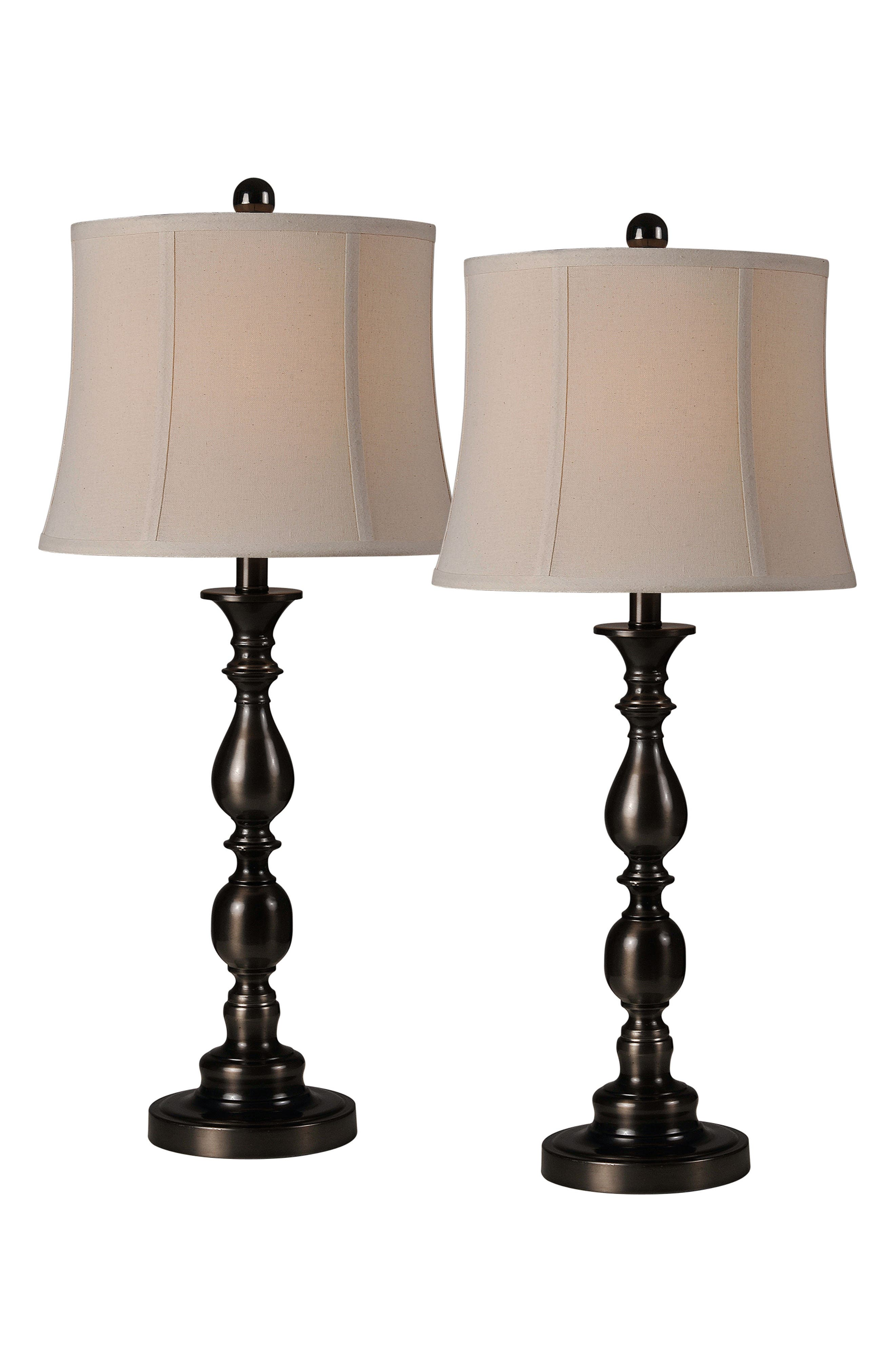 Scala Set of 2 Table Lamps,                             Main thumbnail 1, color,                             OIL RUBBED BRONZE