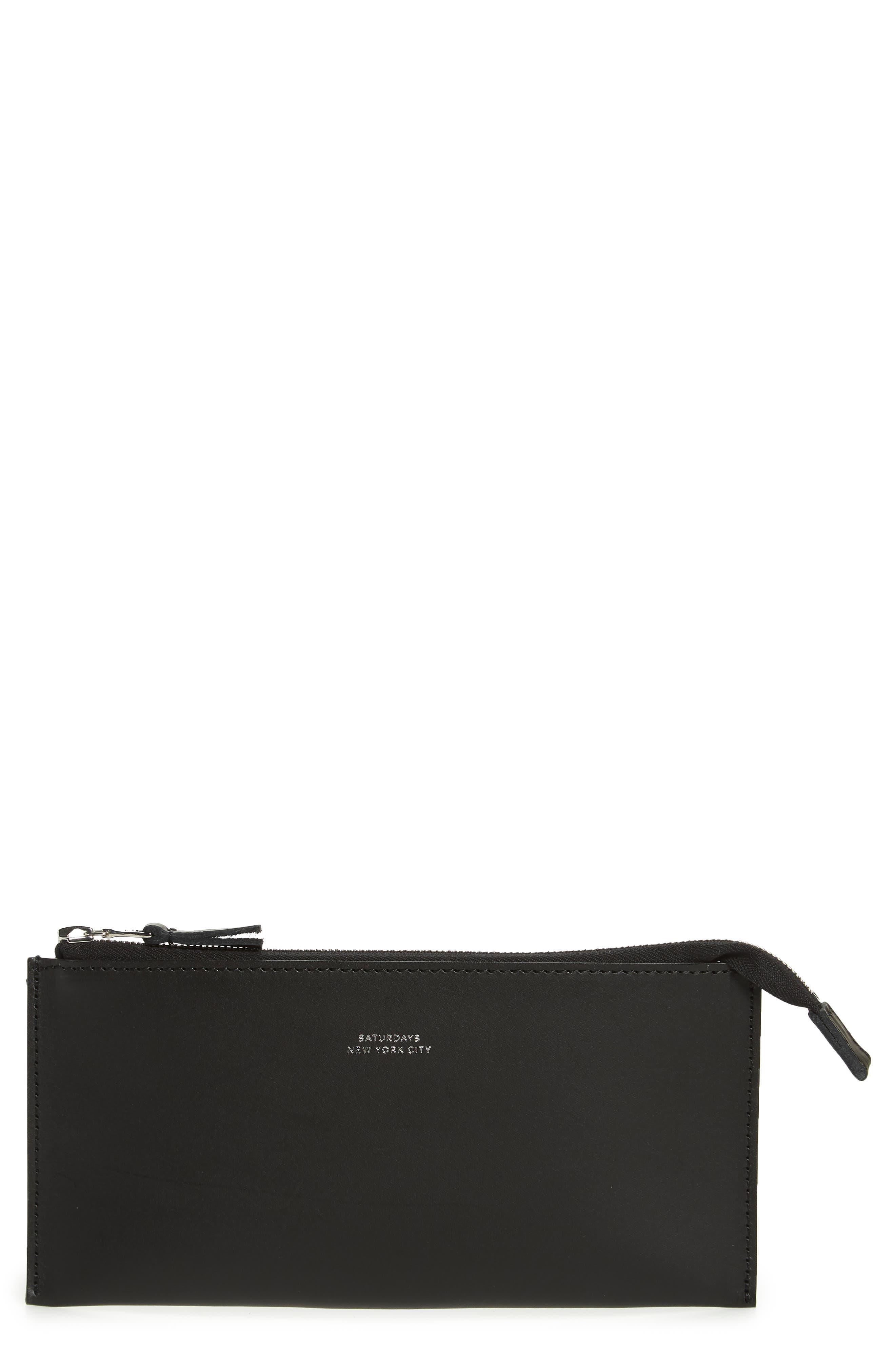 Kirk Zip wallet,                             Main thumbnail 1, color,                             BLACK