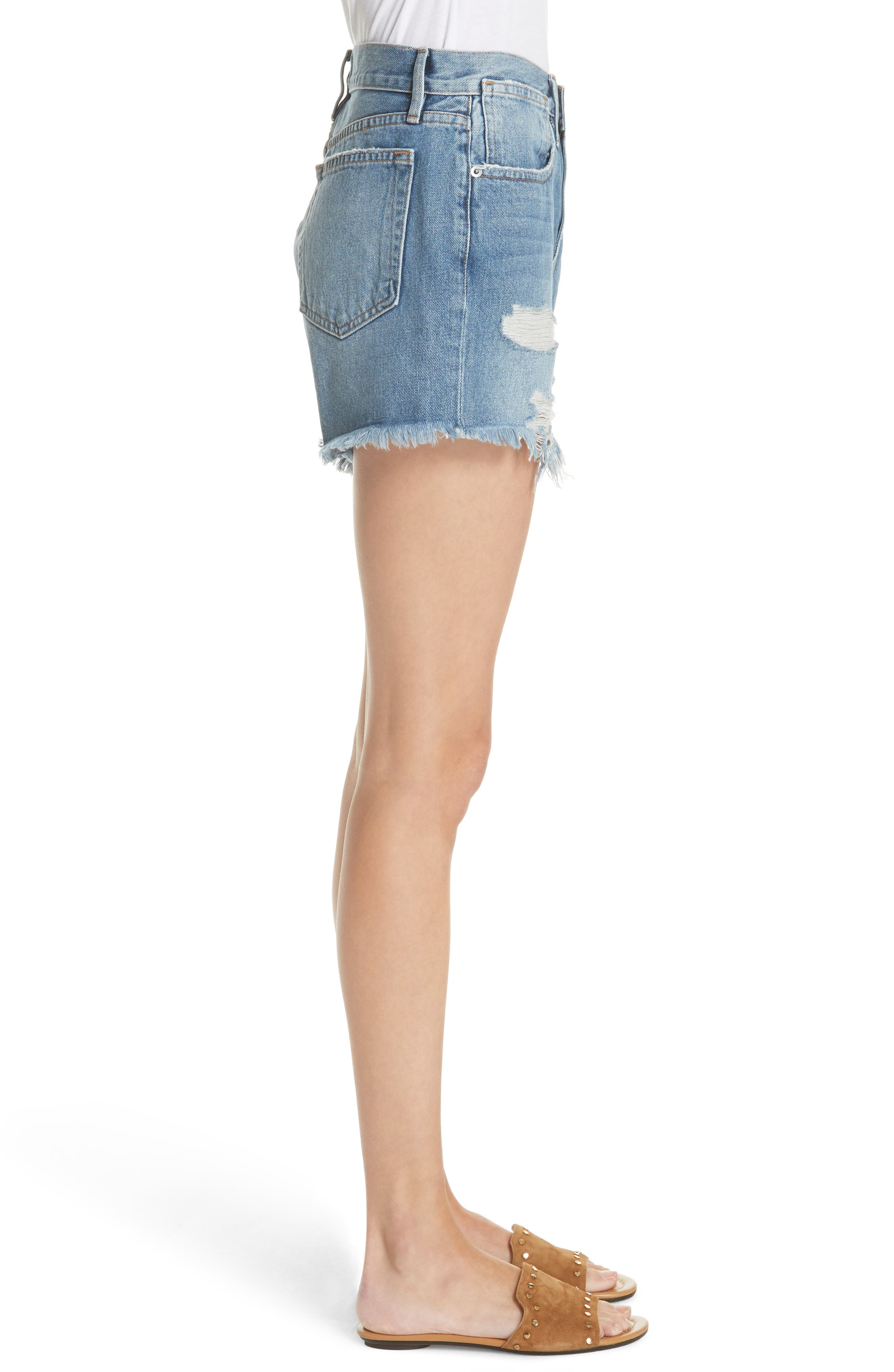 Le Stevie Denim Shorts,                             Alternate thumbnail 3, color,                             401