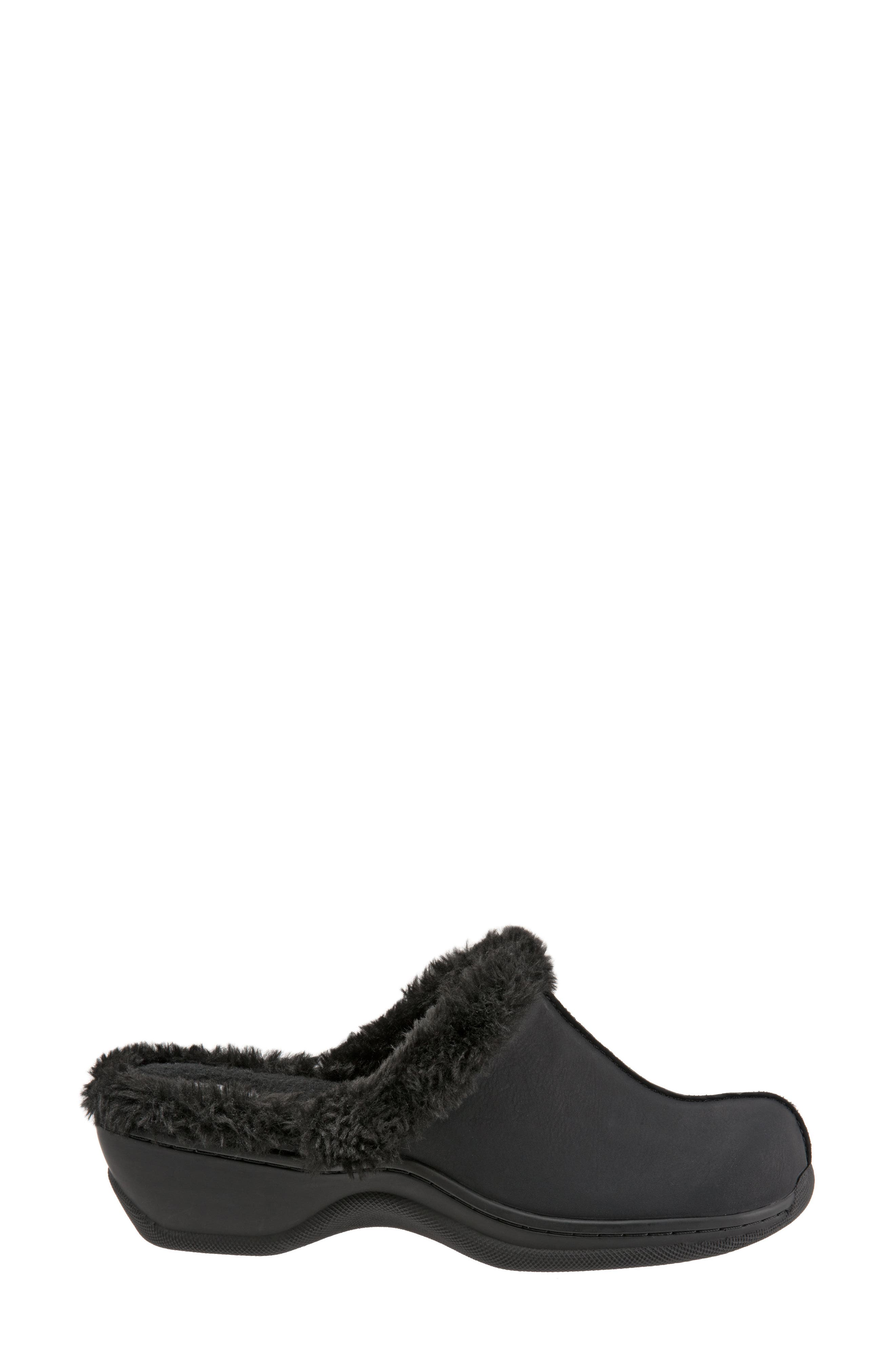 Abigail Clog with Faux Shearling Trim,                             Alternate thumbnail 3, color,                             004
