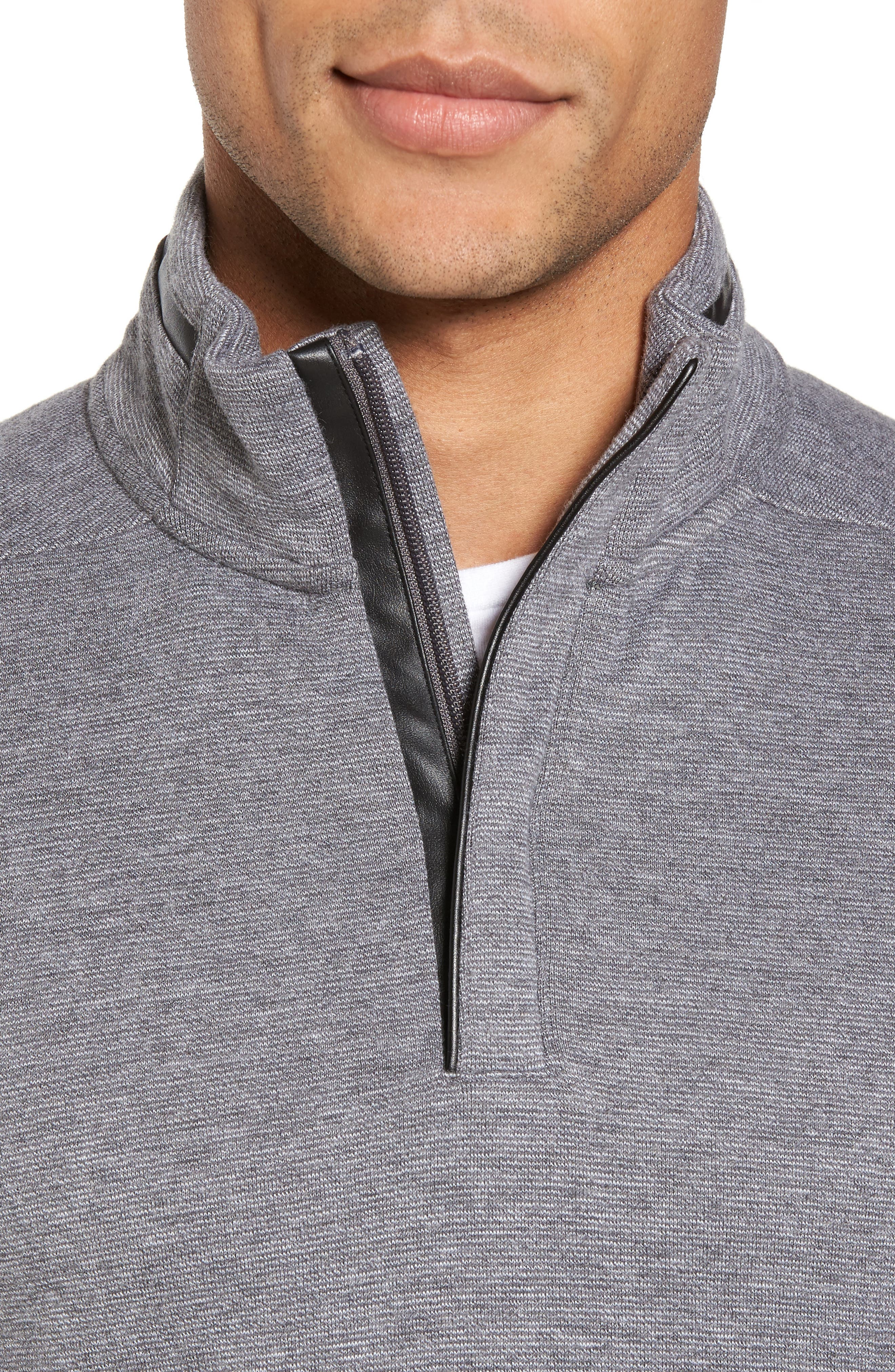 C-Piceno Quarter Zip Fleece Pullover,                             Alternate thumbnail 11, color,
