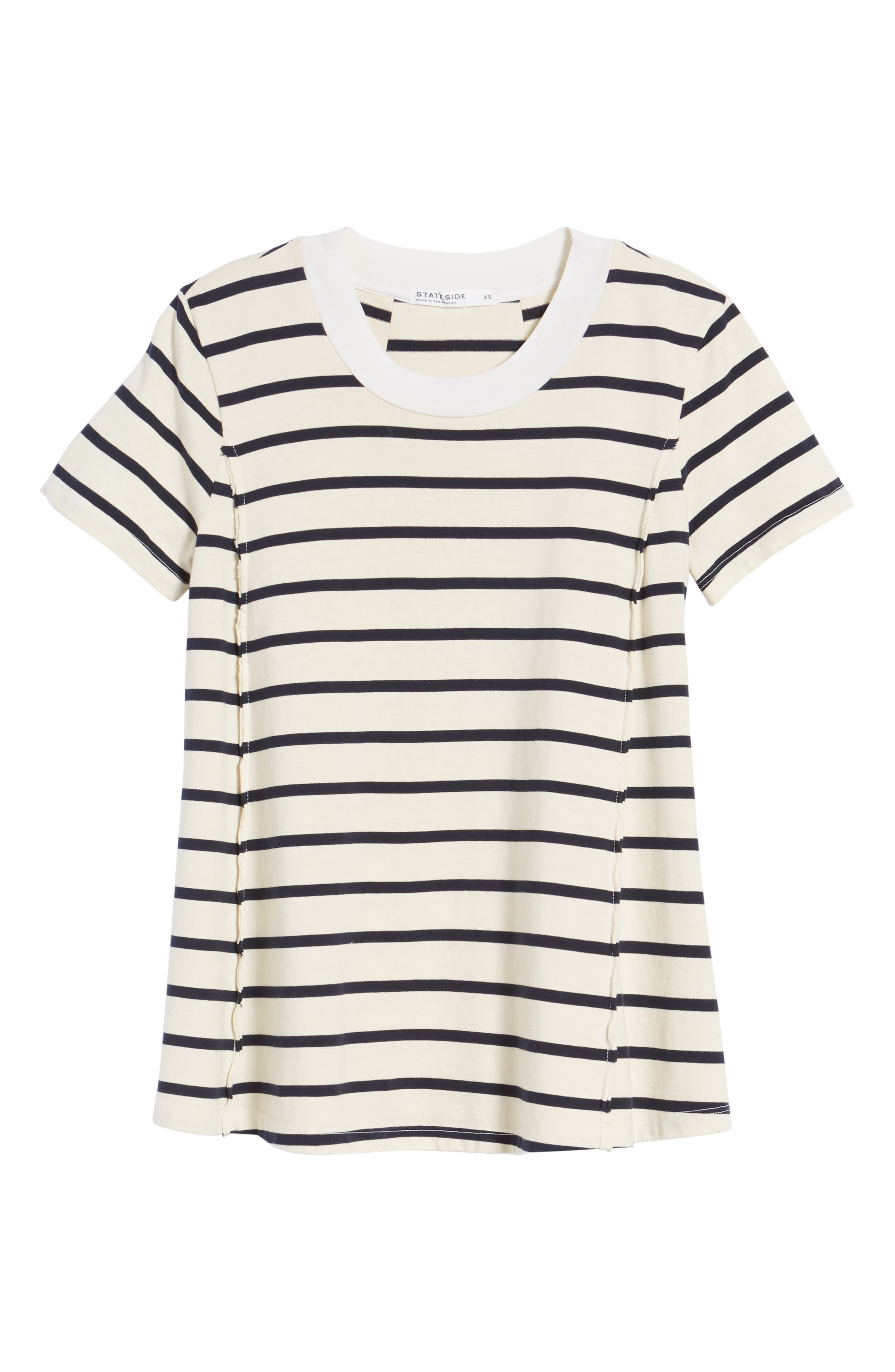 Stripe Swing Tee,                             Alternate thumbnail 6, color,                             900