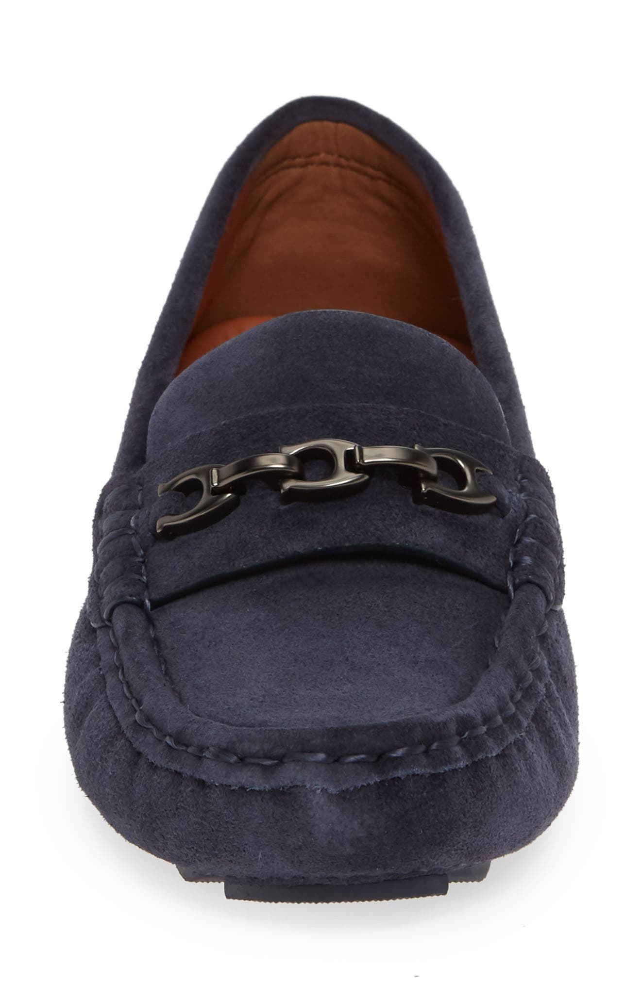 Crosby Driver Loafer,                             Alternate thumbnail 4, color,                             MIDNIGHT NAVY SUEDE