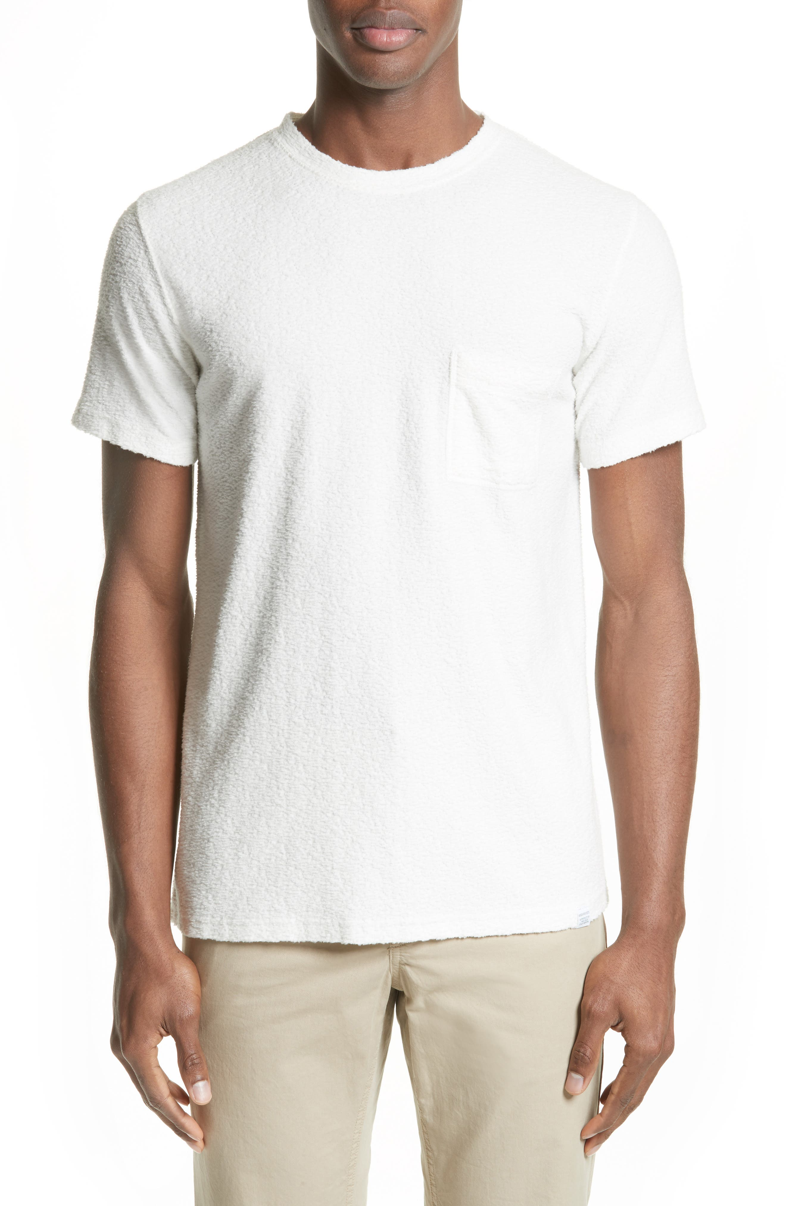 Bouclé Pocket T-Shirt,                         Main,                         color, 100