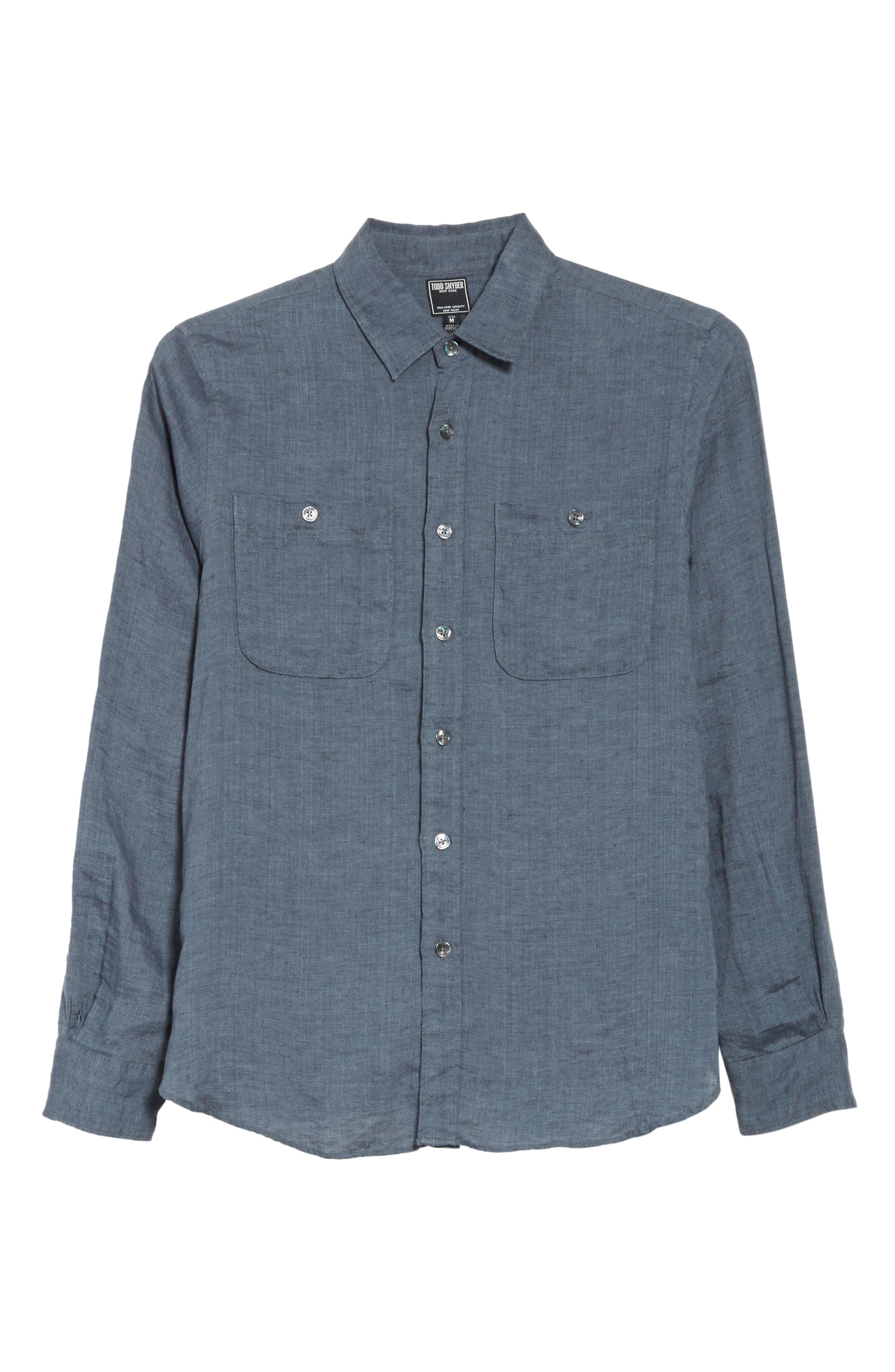 Linen Shirt,                             Alternate thumbnail 12, color,