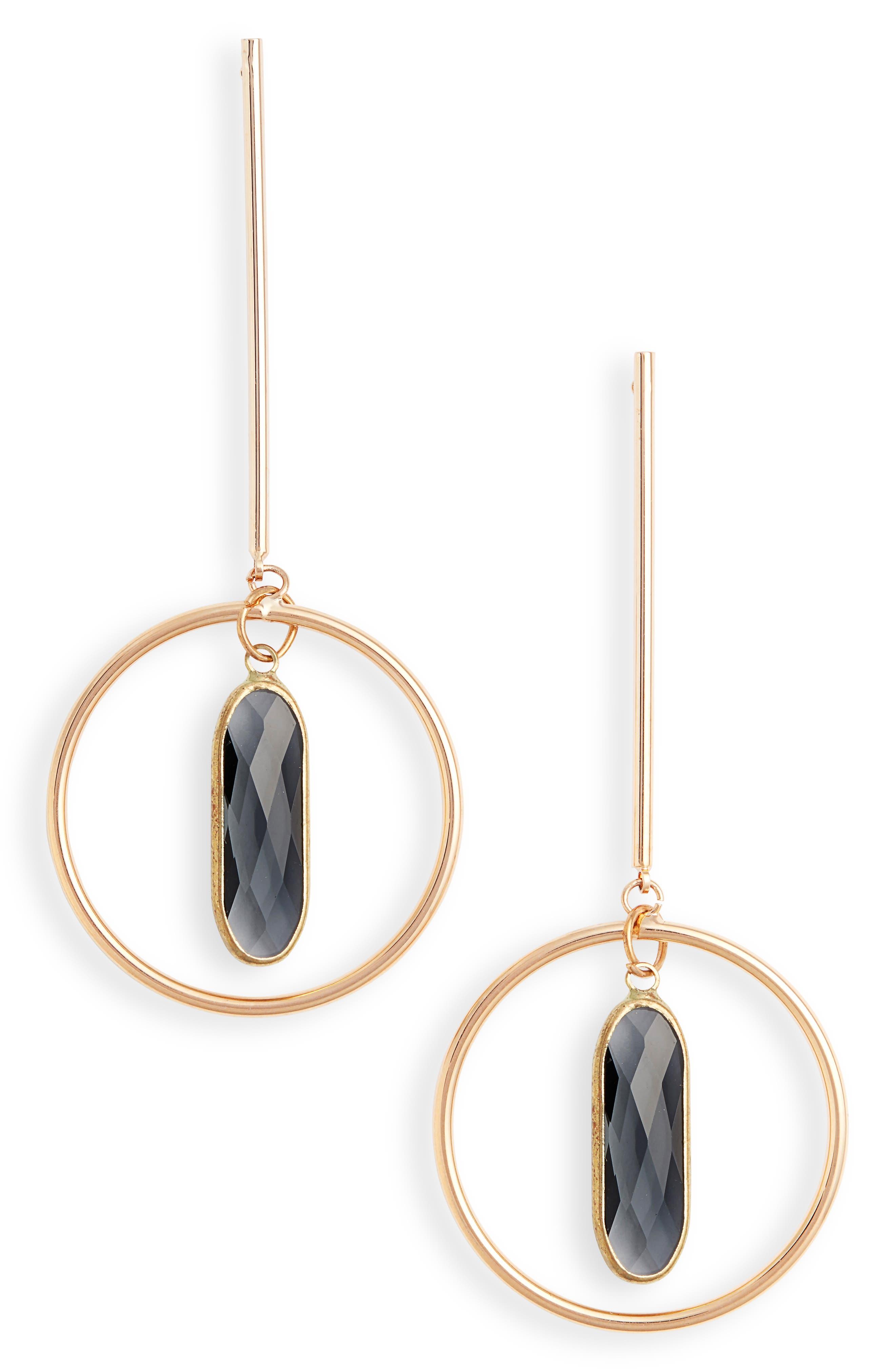 ELISE M. Novalee Bar & Hoop Earrings, Main, color, 020
