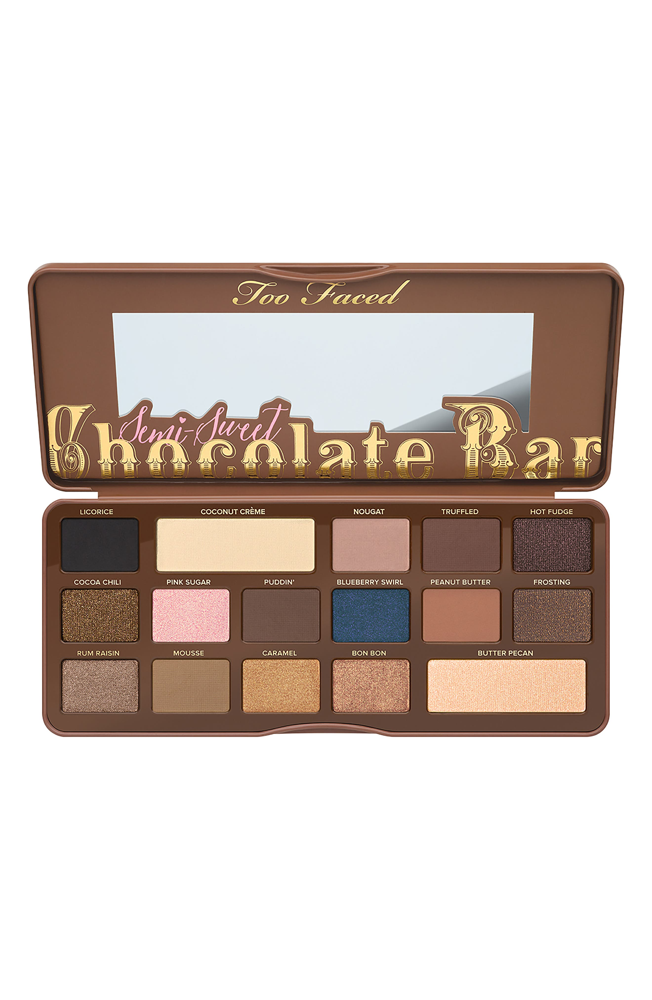 TOO FACED,                             Semi-Sweet Chocolate Bar Eyeshadow Palette,                             Alternate thumbnail 2, color,                             NO COLOR