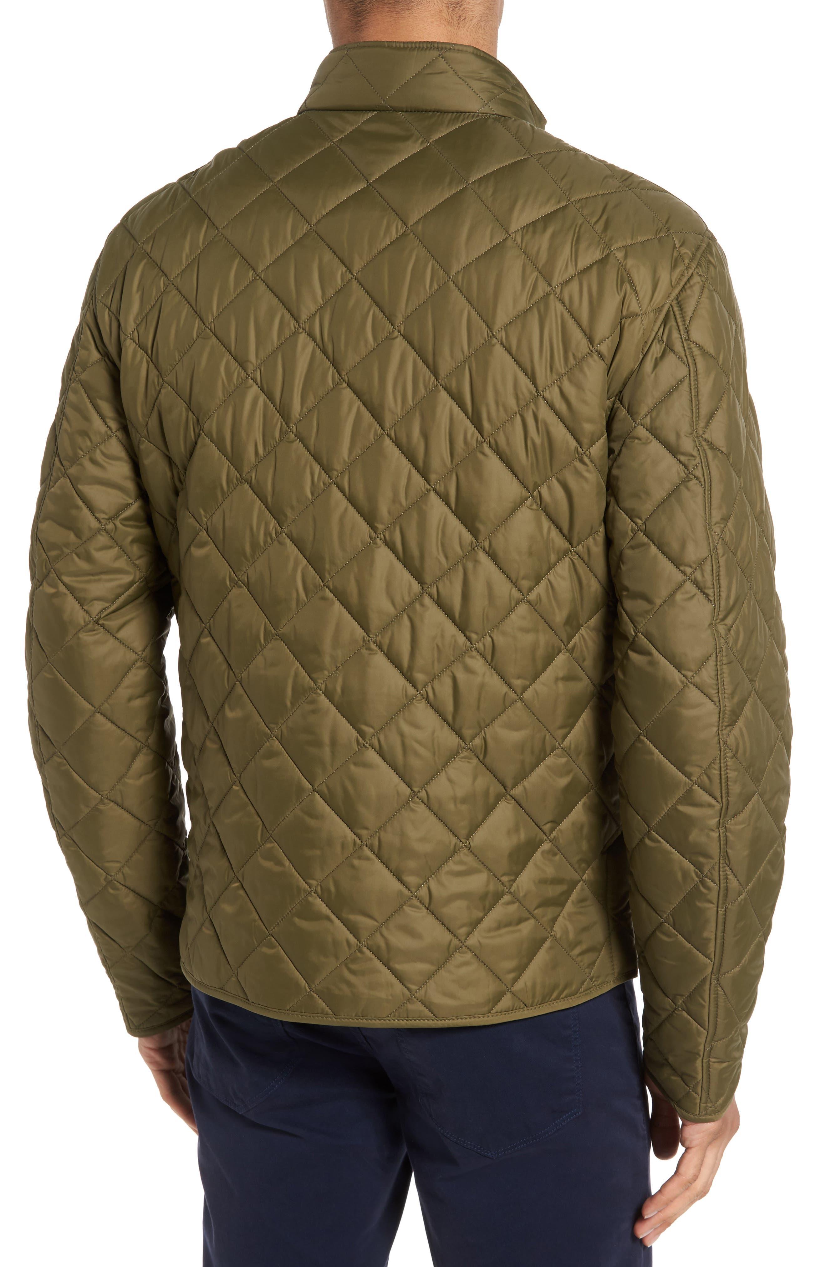 Pod Slim Fit Quilted Jacket,                             Alternate thumbnail 2, color,                             OLIVE