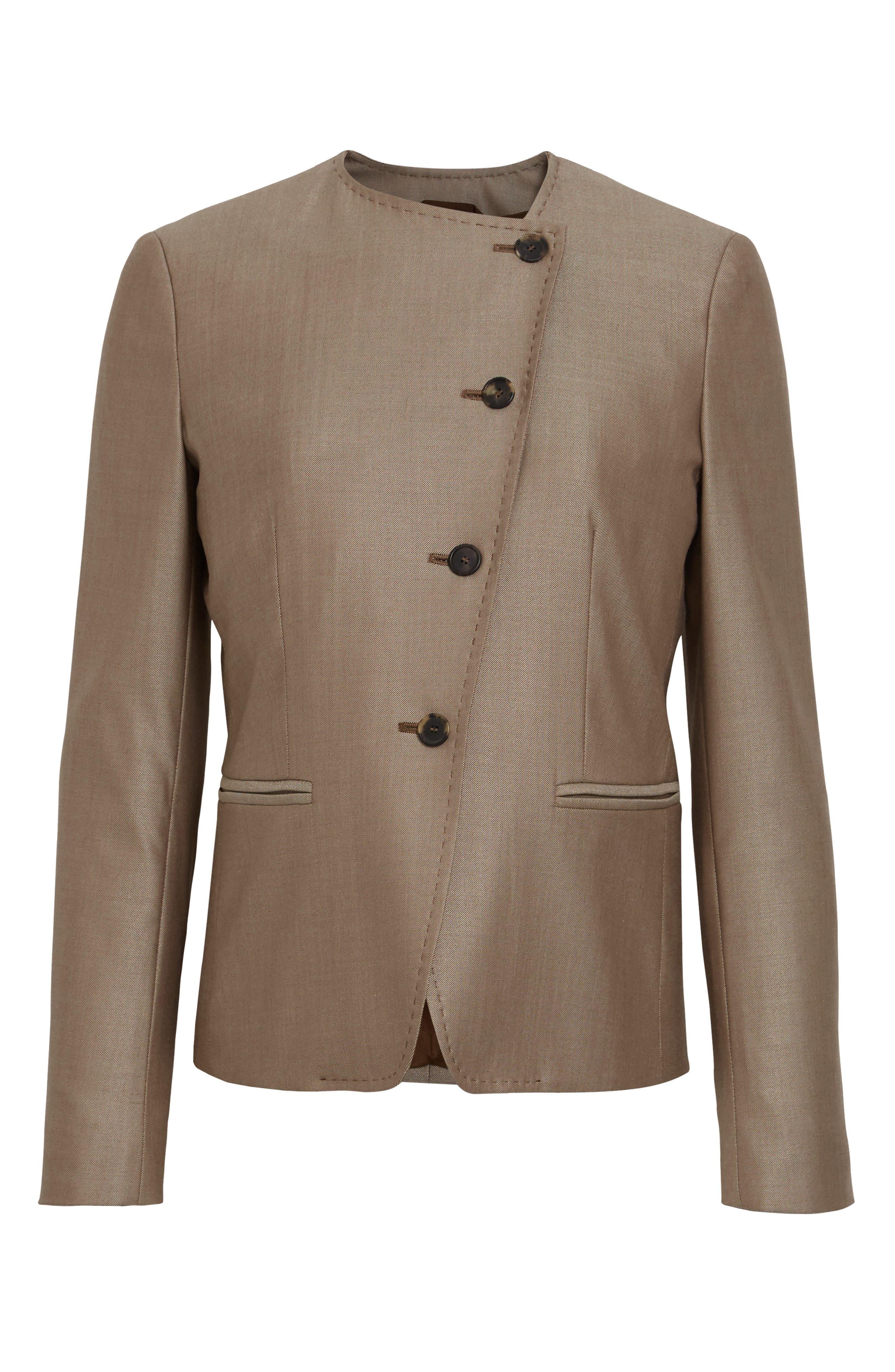 Erba Asymmetrical Jacket,                             Alternate thumbnail 6, color,                             220