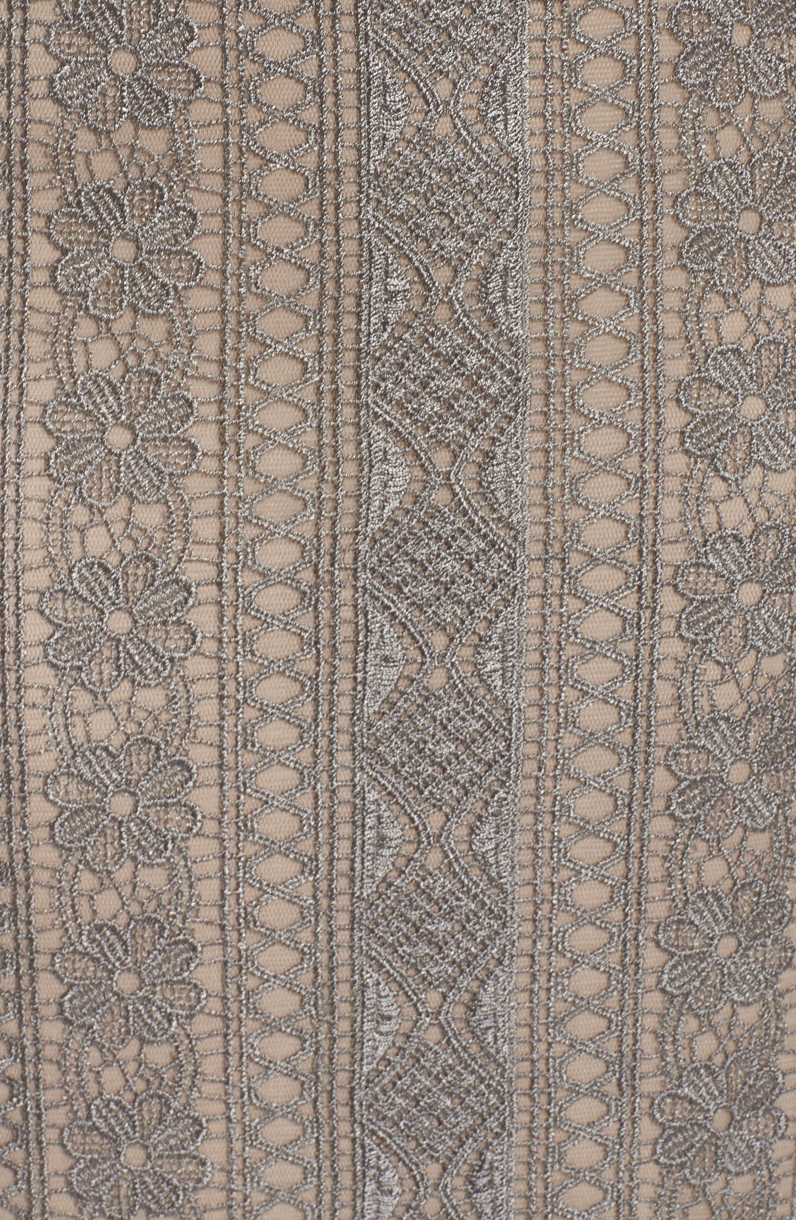 Lace Gown,                             Alternate thumbnail 6, color,                             LATTE/ SMOKE