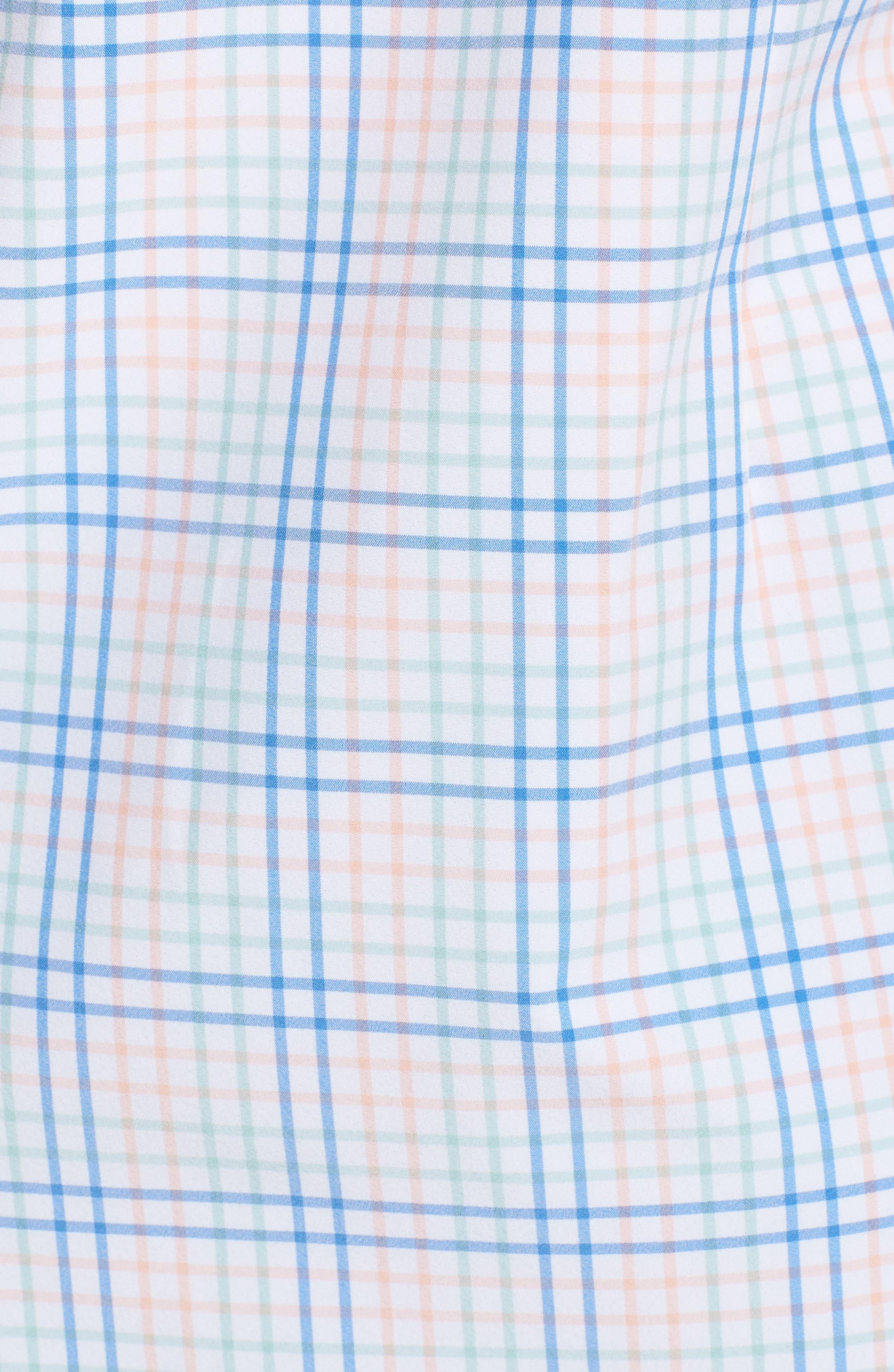 Newton Plaid Performance Sport Shirt,                             Alternate thumbnail 5, color,                             355