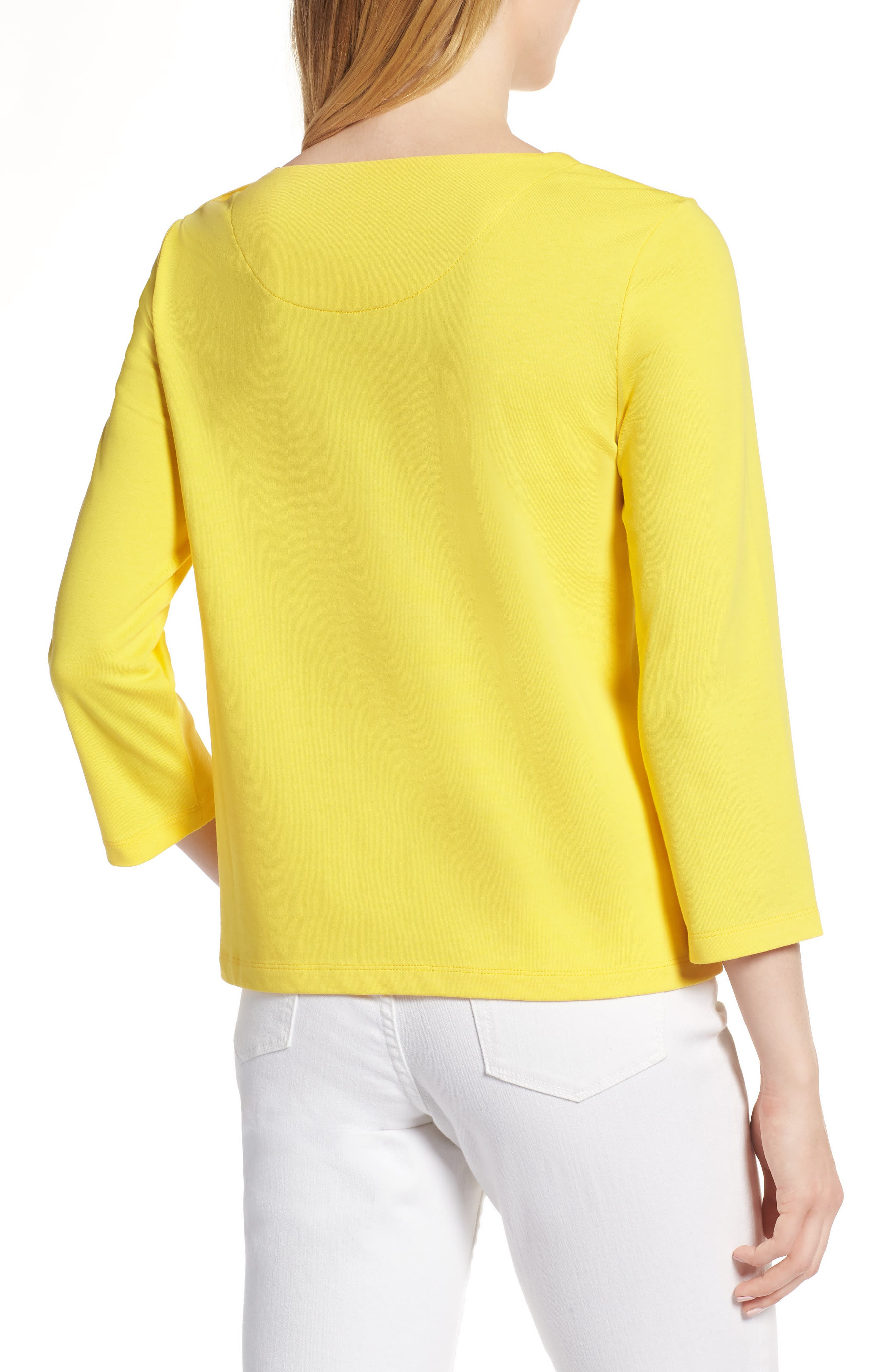 Shoulder Button Cotton Top,                             Alternate thumbnail 8, color,