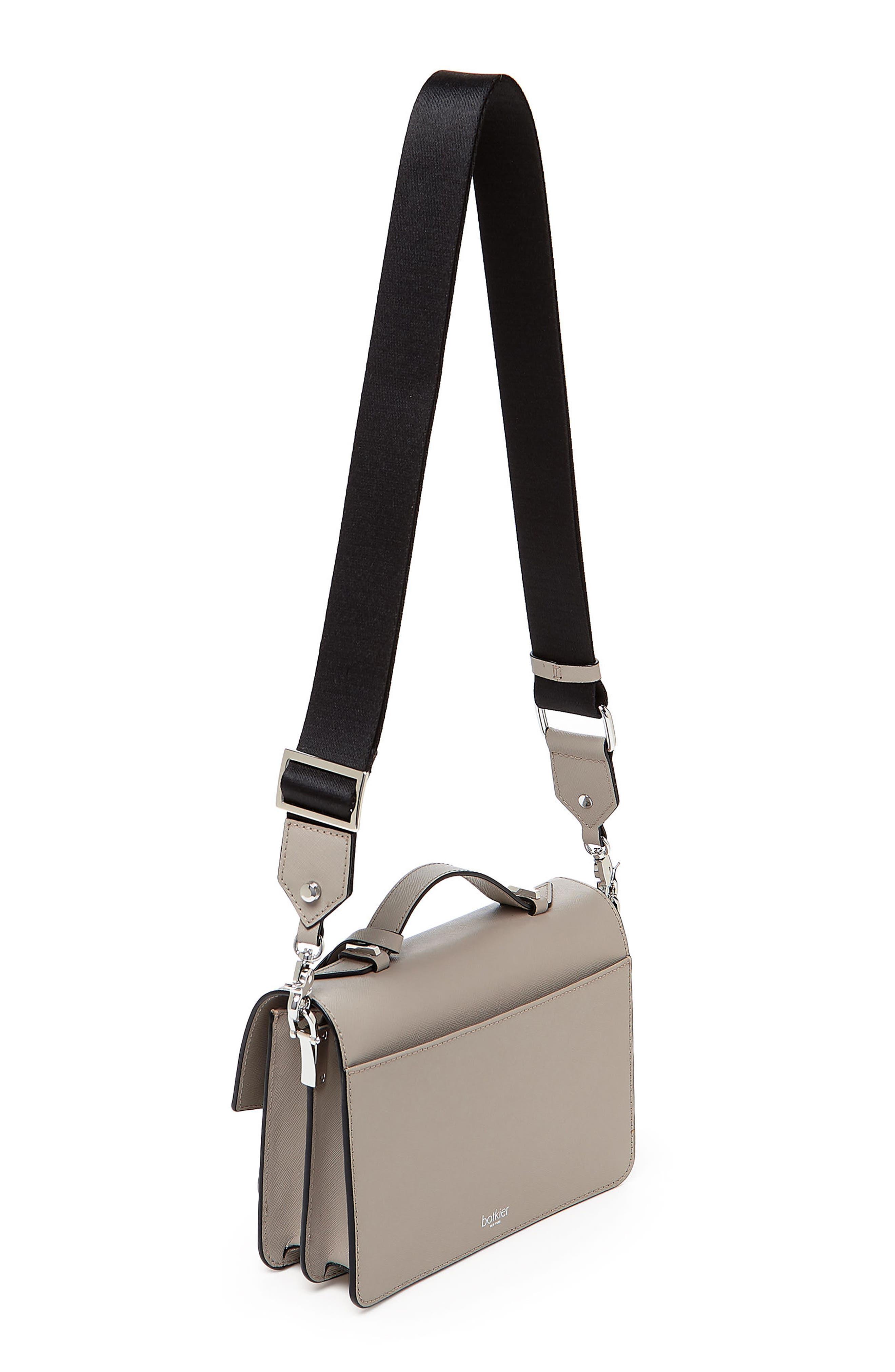 Cobble Hill Leather Crossbody Bag,                             Alternate thumbnail 100, color,