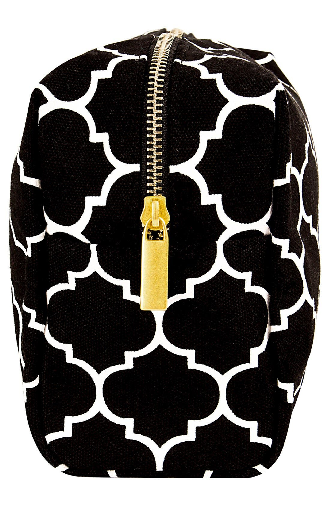 Monogram Cosmetics Bag,                             Alternate thumbnail 3, color,                             BLACK