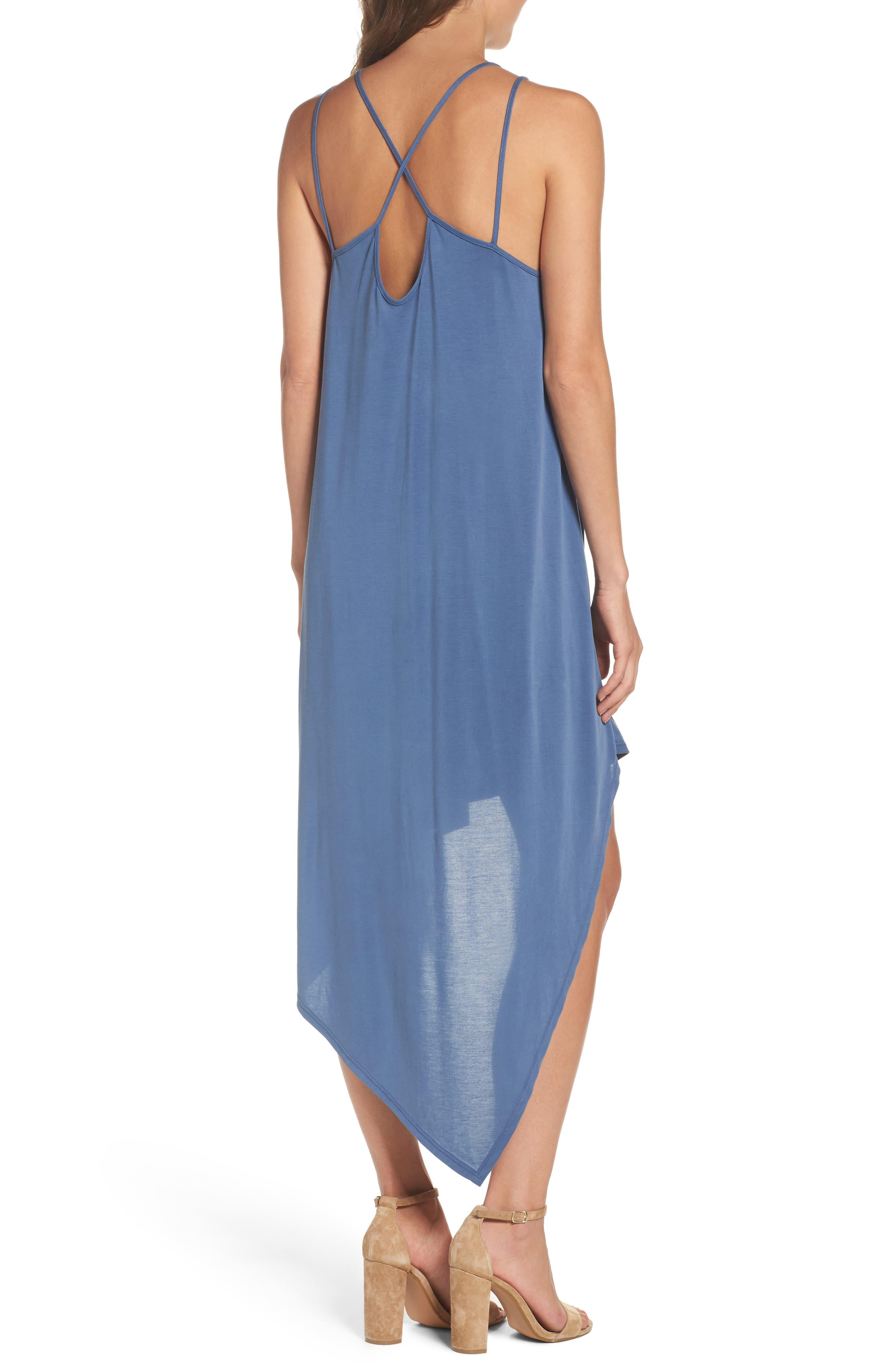 Asymmetrical Modal Blend Dress,                             Alternate thumbnail 2, color,                             492