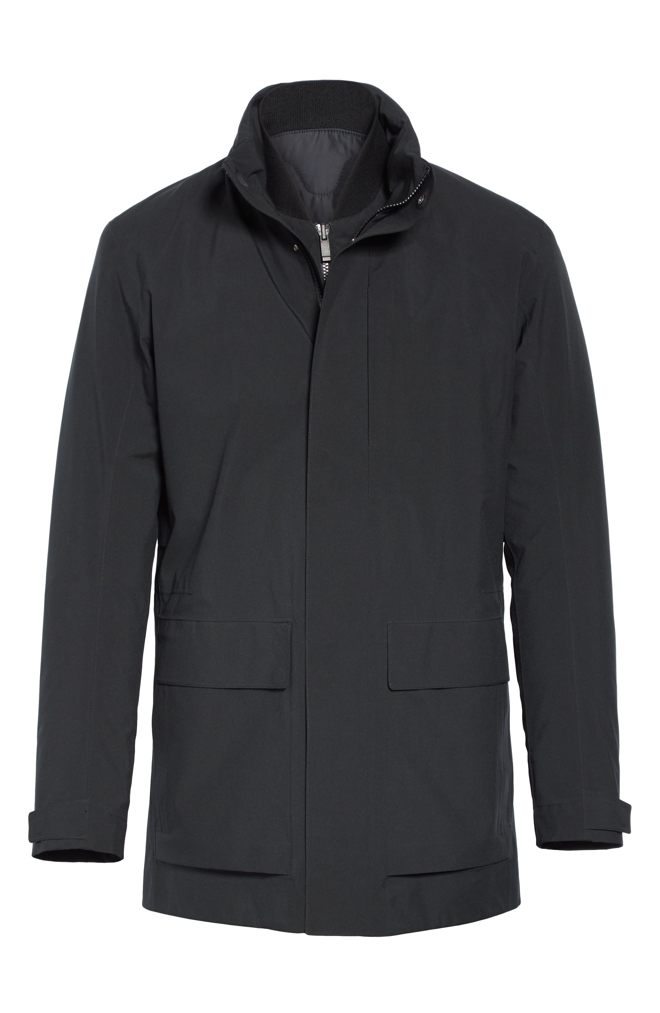 Z Zenga Trim Fit 3-in-1 Jacket,                             Alternate thumbnail 6, color,                             BLACK