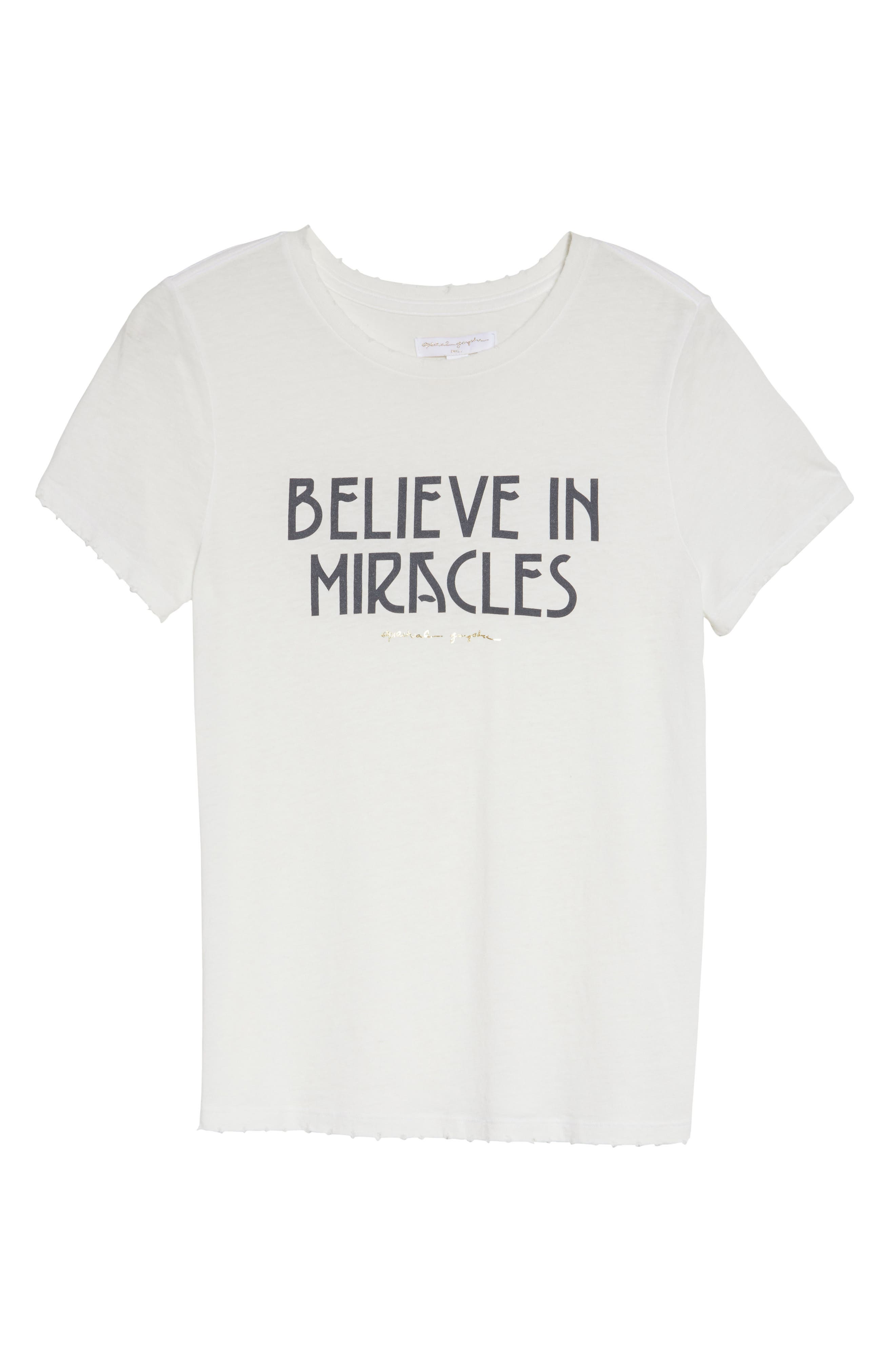 Believe In Miracles Tee,                             Alternate thumbnail 7, color,                             114