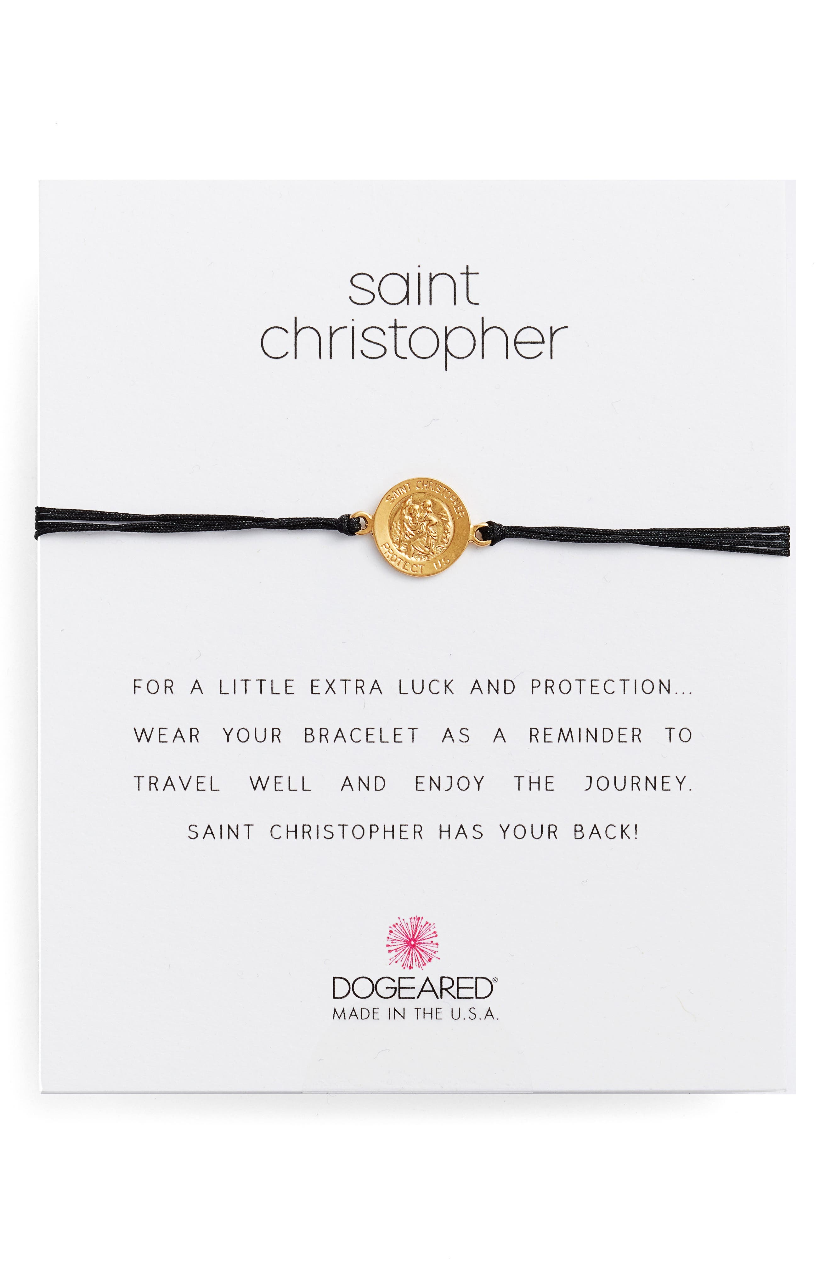 Saint Christopher Pull Bracelet,                         Main,                         color, 001