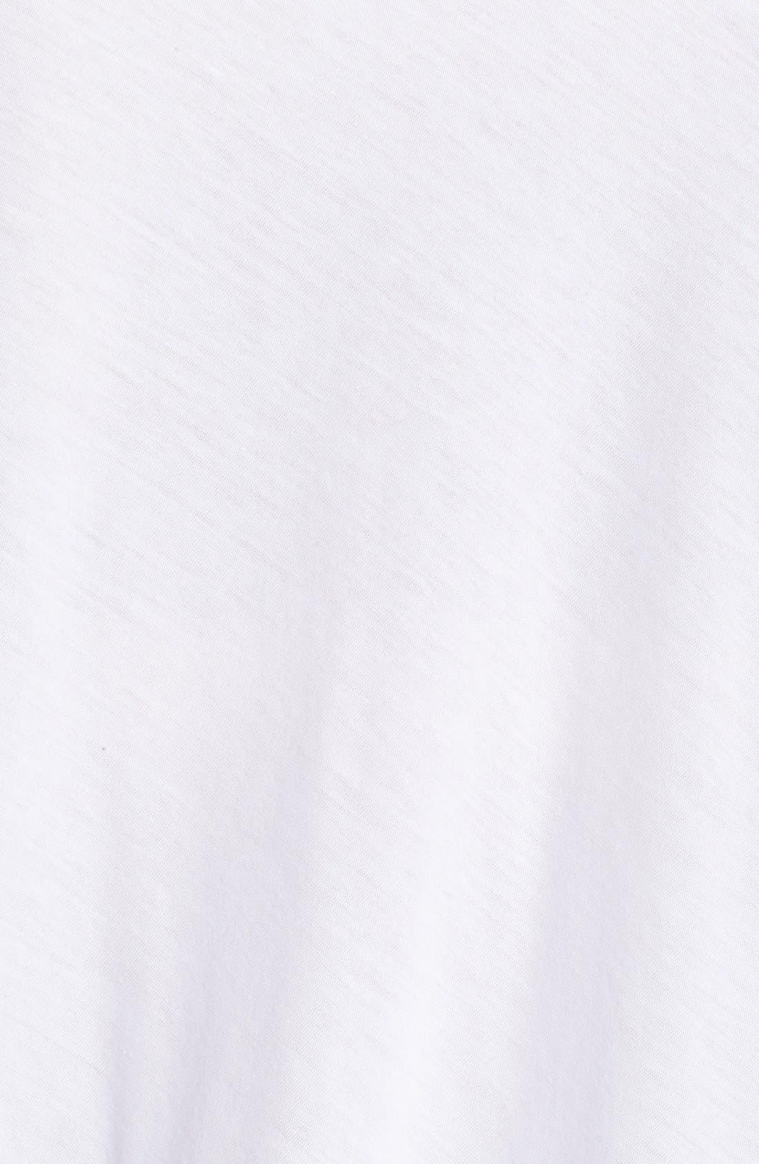 Classic Collar Organic Cotton Shirt,                             Alternate thumbnail 4, color,                             100