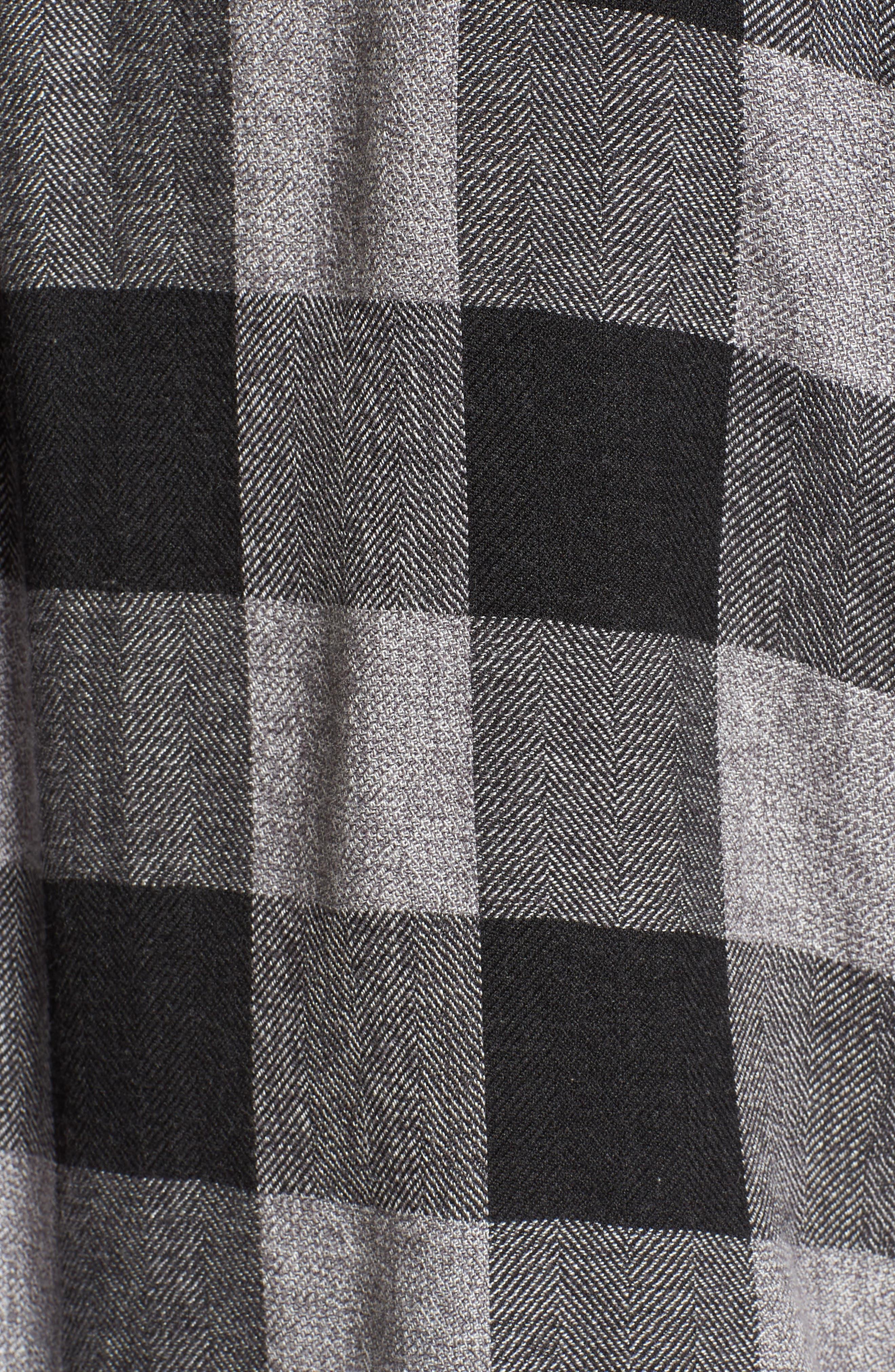 Lennox Sport Shirt,                             Alternate thumbnail 5, color,                             CHARCOAL/ BLACK CHECK