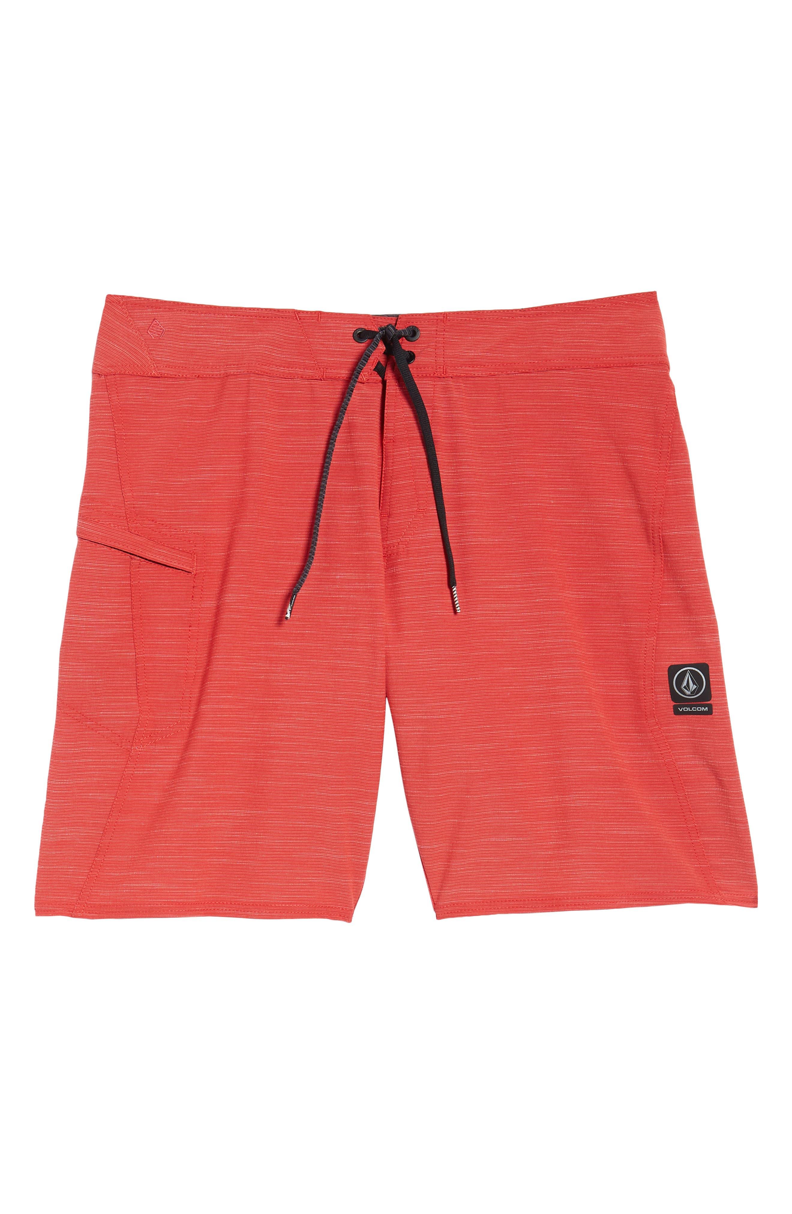 Lido Slub Modern Board Shorts,                             Alternate thumbnail 6, color,                             RED