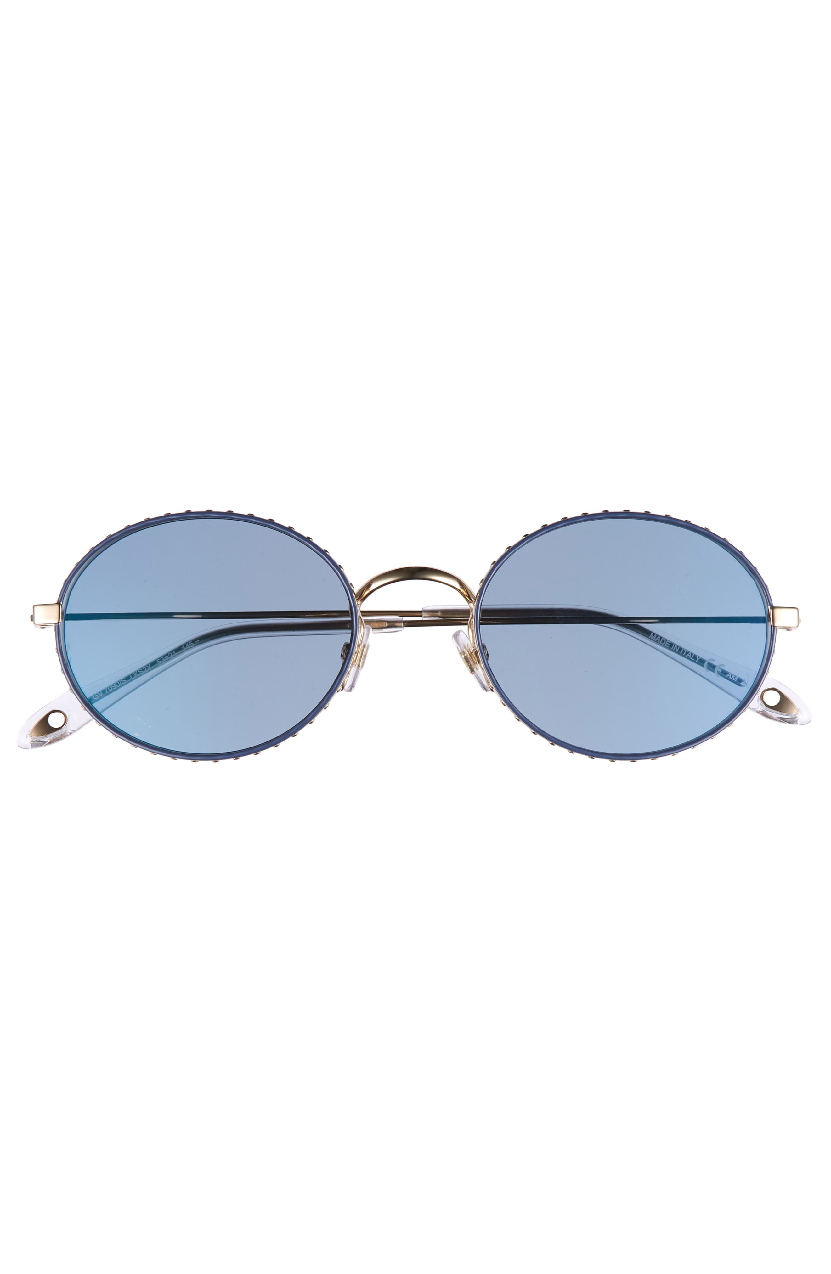53mm Oval Sunglasses,                             Alternate thumbnail 3, color,                             GOLD/ BLUE