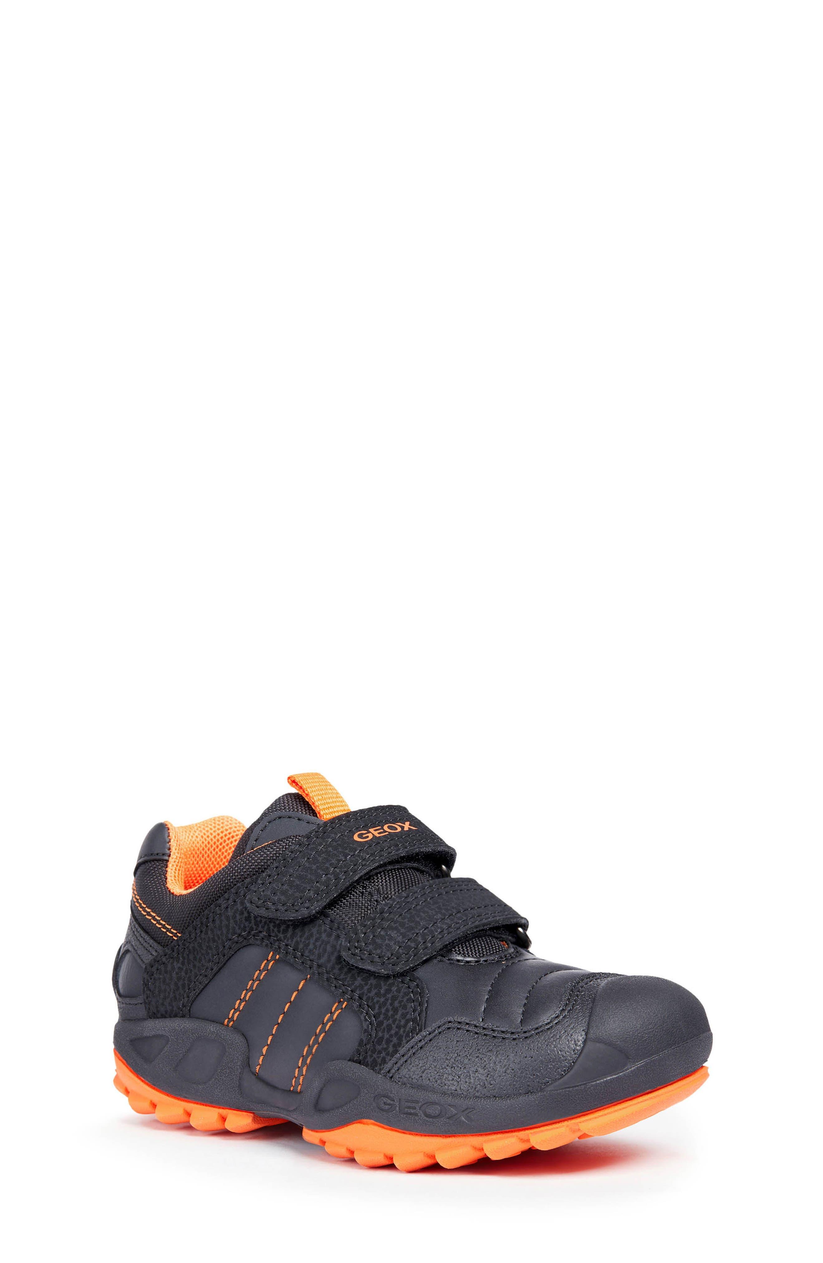 New Savage Sneaker,                         Main,                         color, BLACK/ORANGE