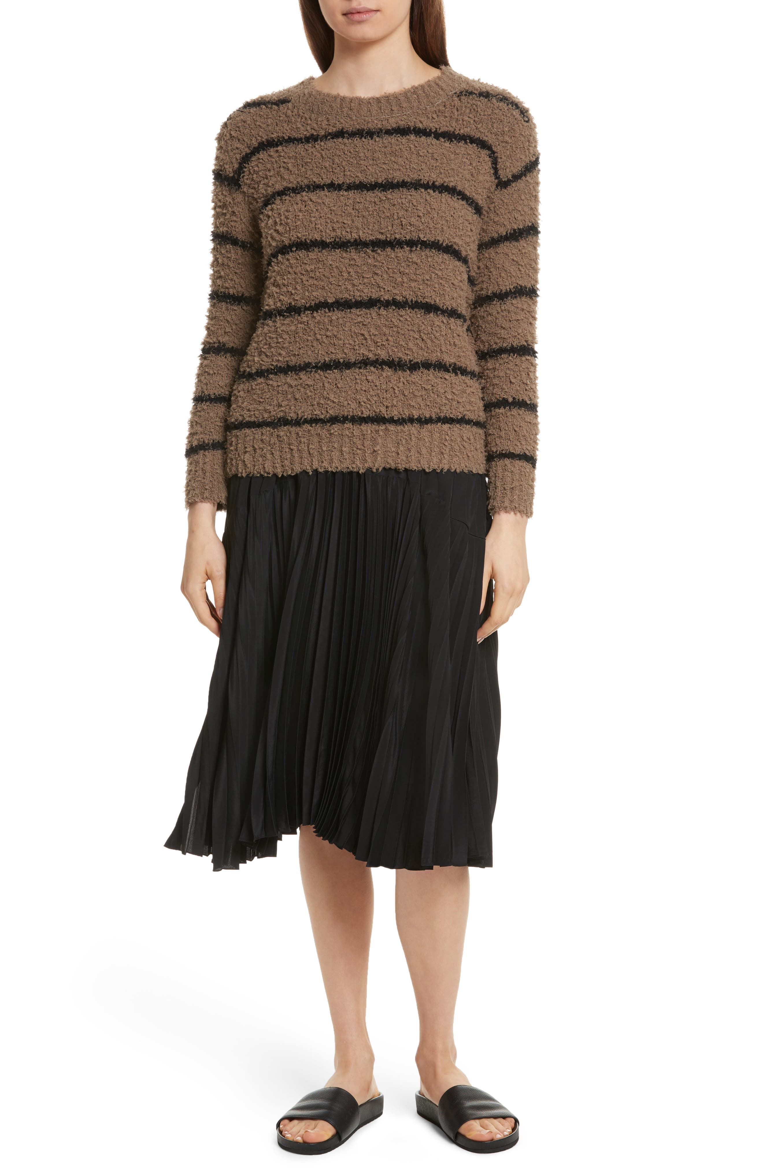 Fuzzy Stripe Sweater,                             Alternate thumbnail 7, color,                             313