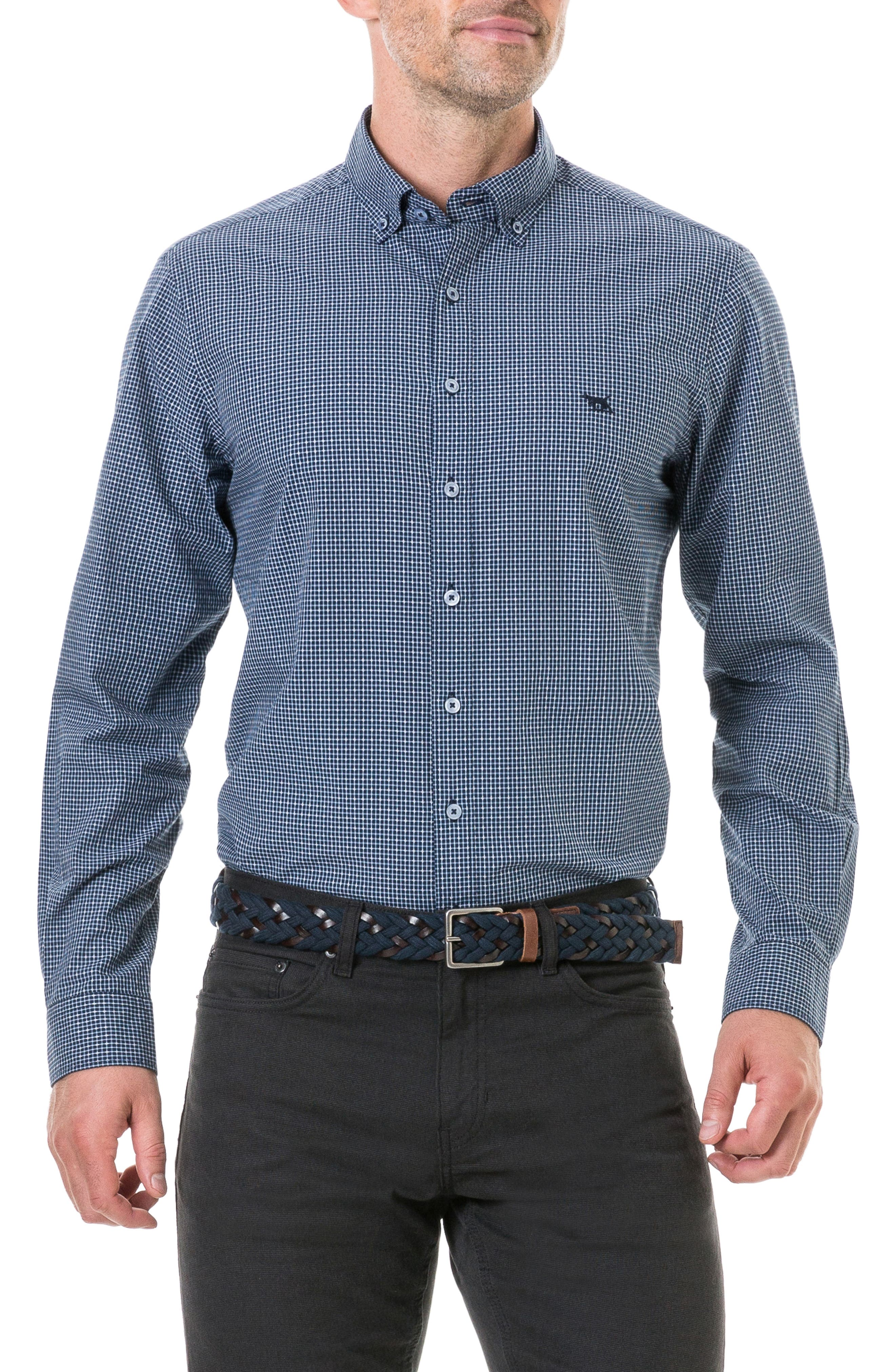 Wingrove Regular Fit Sport Shirt,                             Main thumbnail 1, color,                             MIDNIGHT
