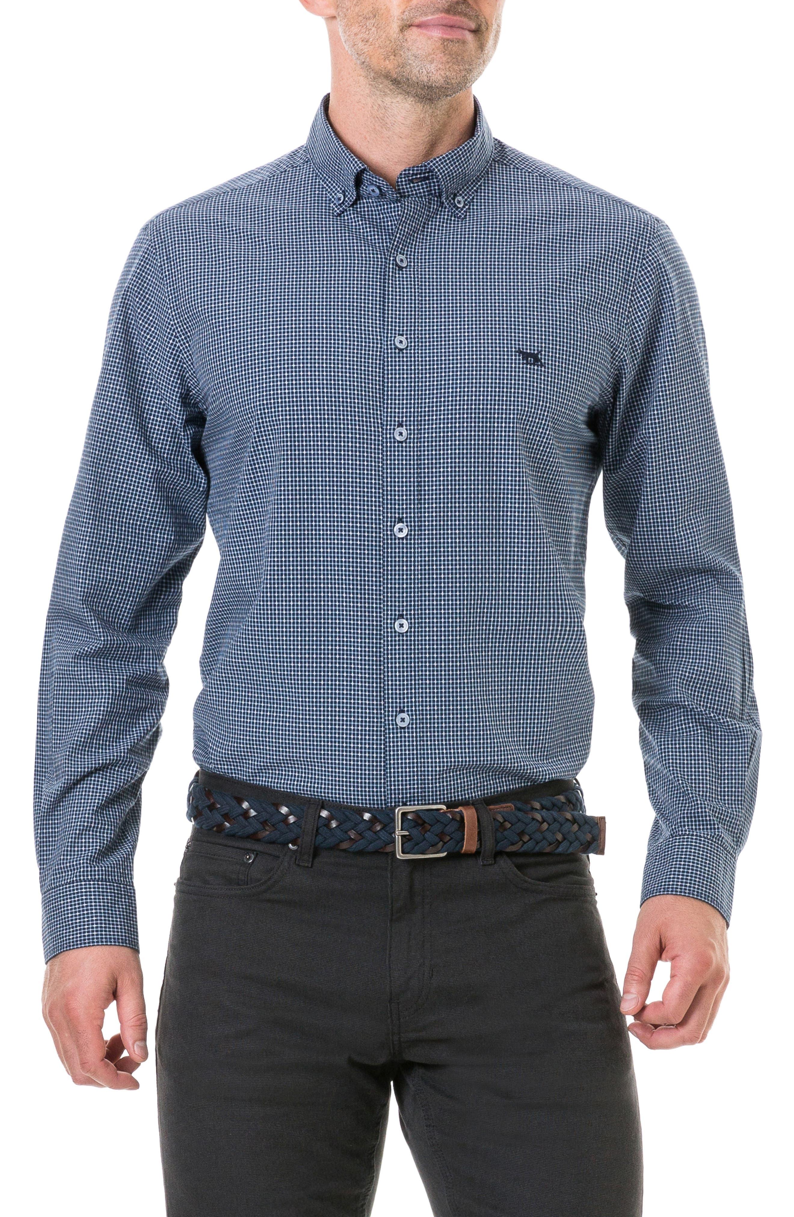 Wingrove Regular Fit Sport Shirt,                         Main,                         color, MIDNIGHT