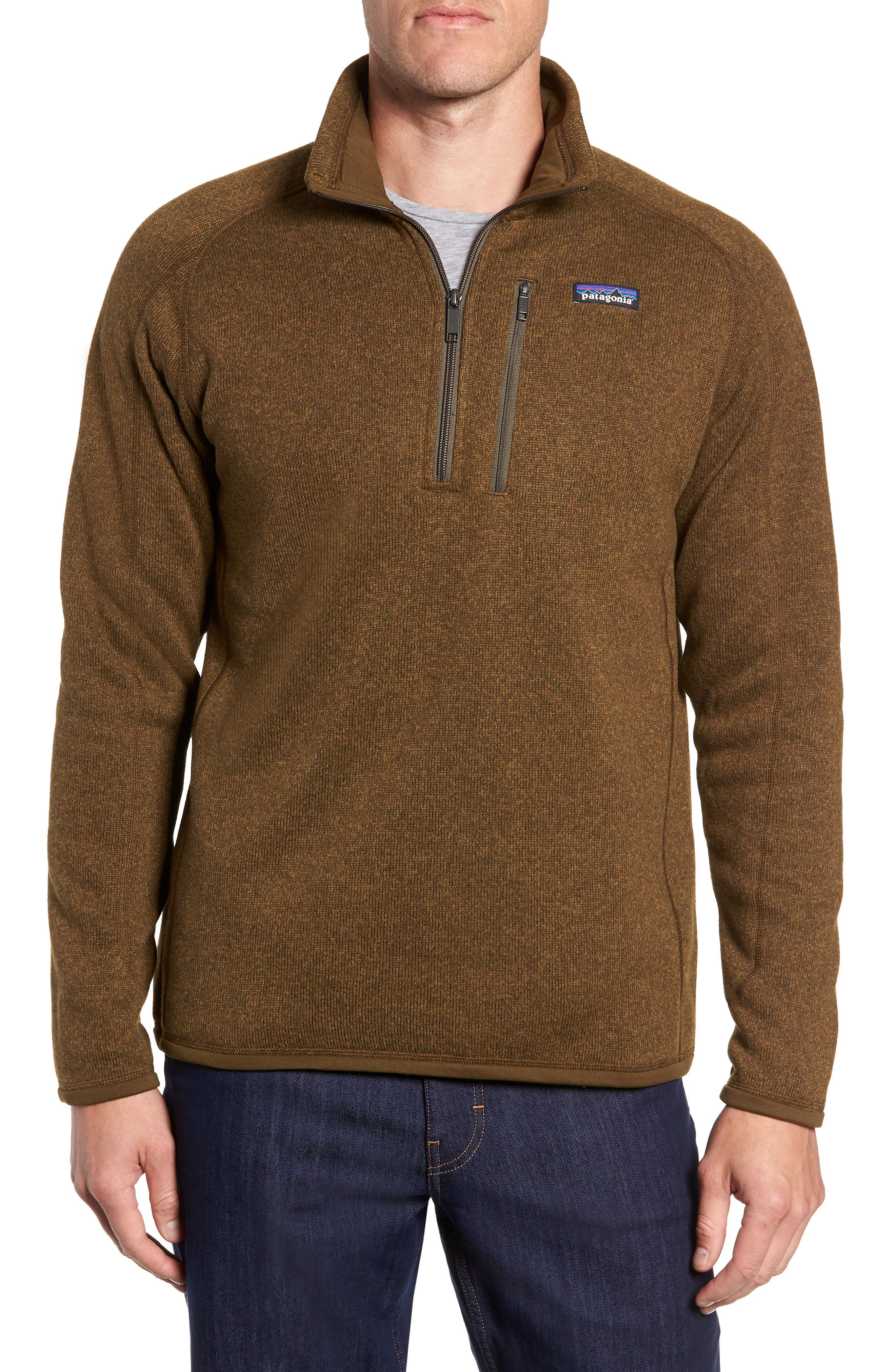 'Better Sweater' Quarter Zip Pullover,                         Main,                         color, SEDIMENT