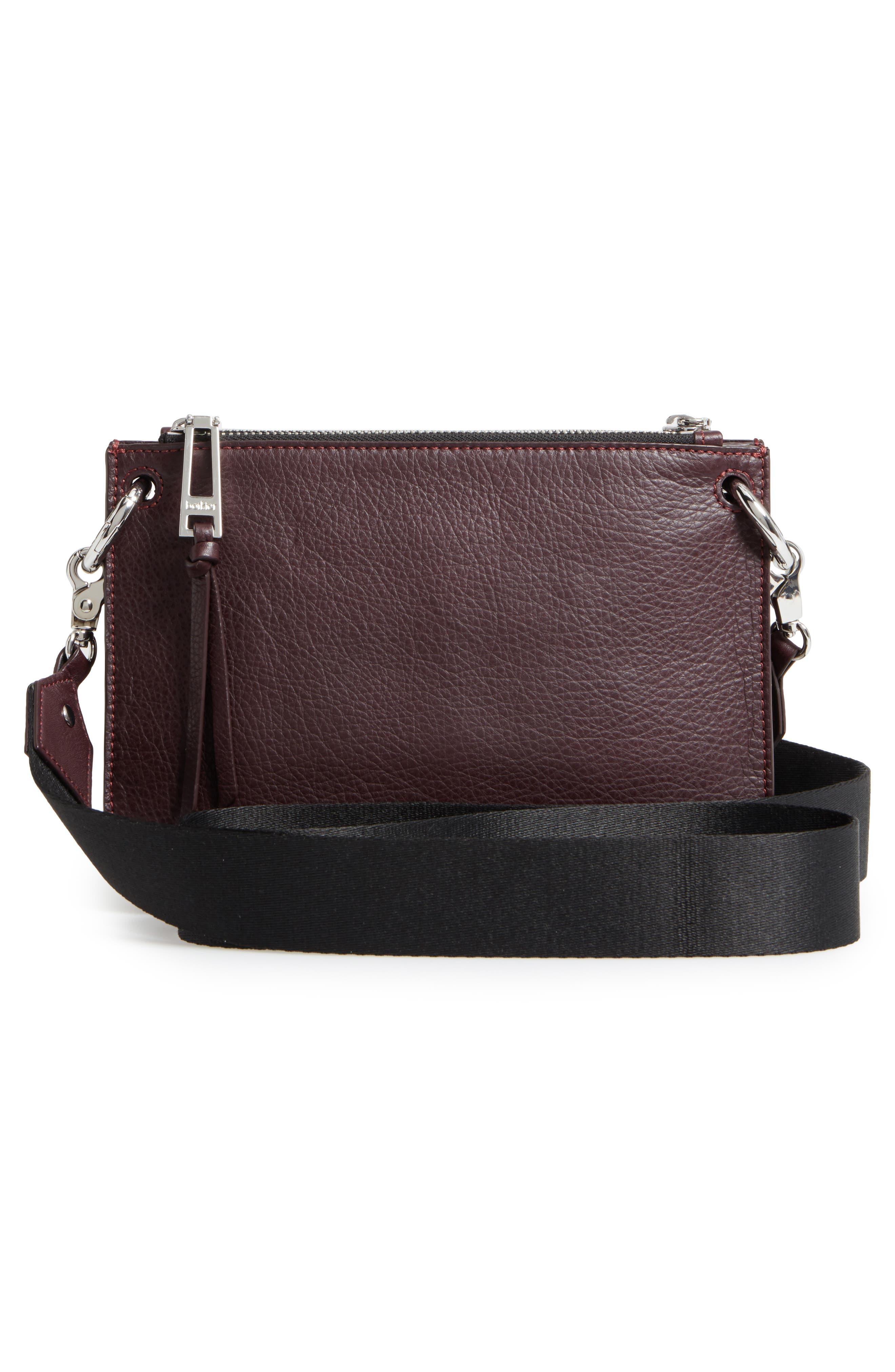 Bleeker Leather Double Shoulder Bag,                             Alternate thumbnail 17, color,