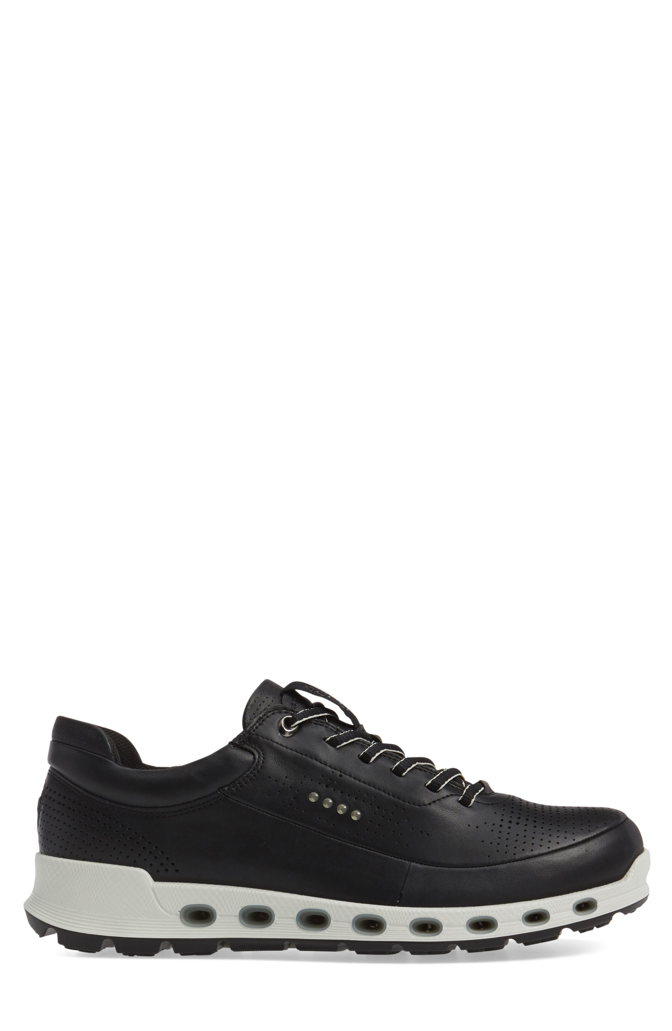Cool 2.0 Leather GTX Sneaker,                             Alternate thumbnail 3, color,                             BLACK