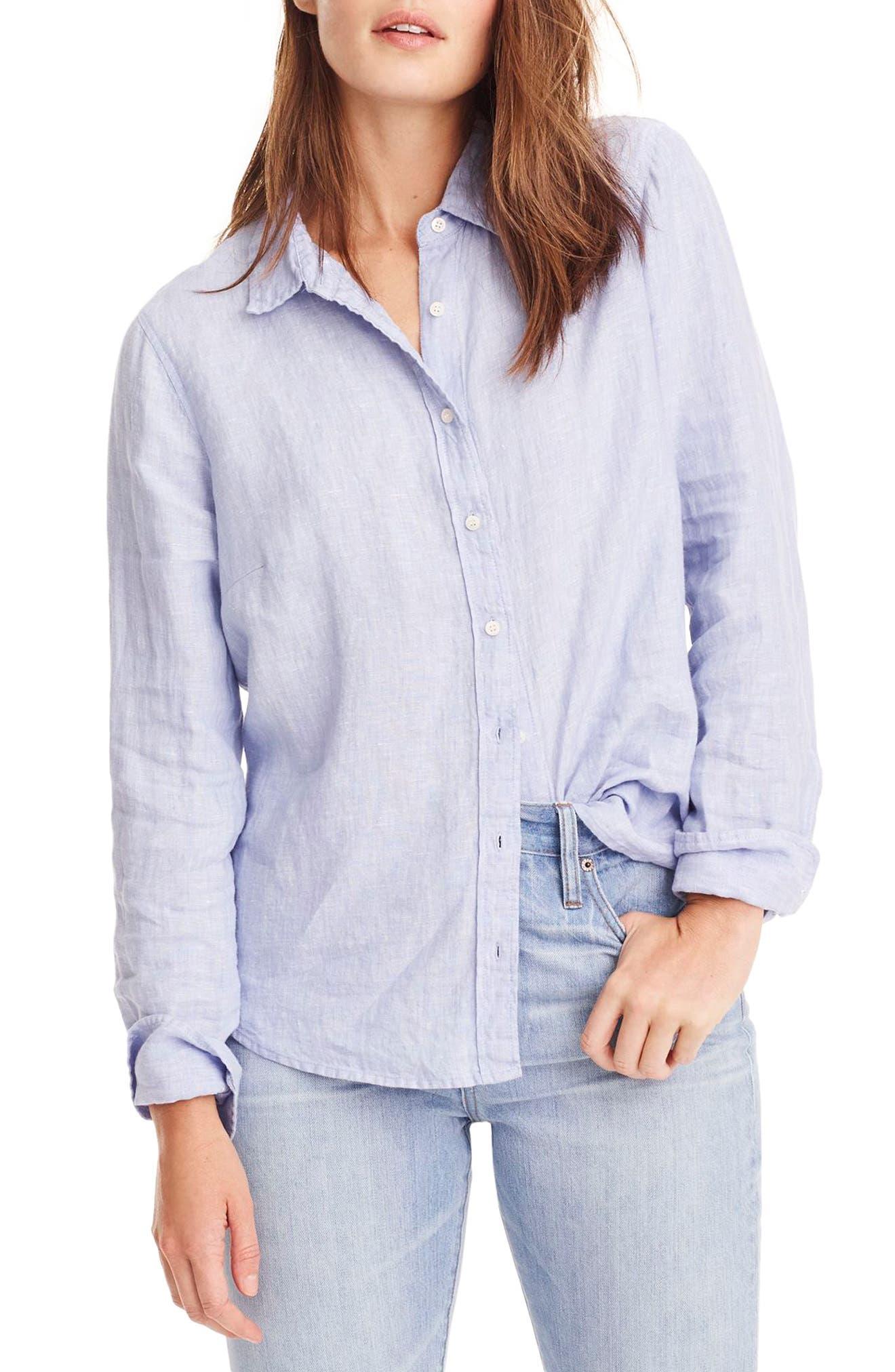 Slim Perfect Cross Dyed Irish Linen Shirt,                         Main,                         color, 402