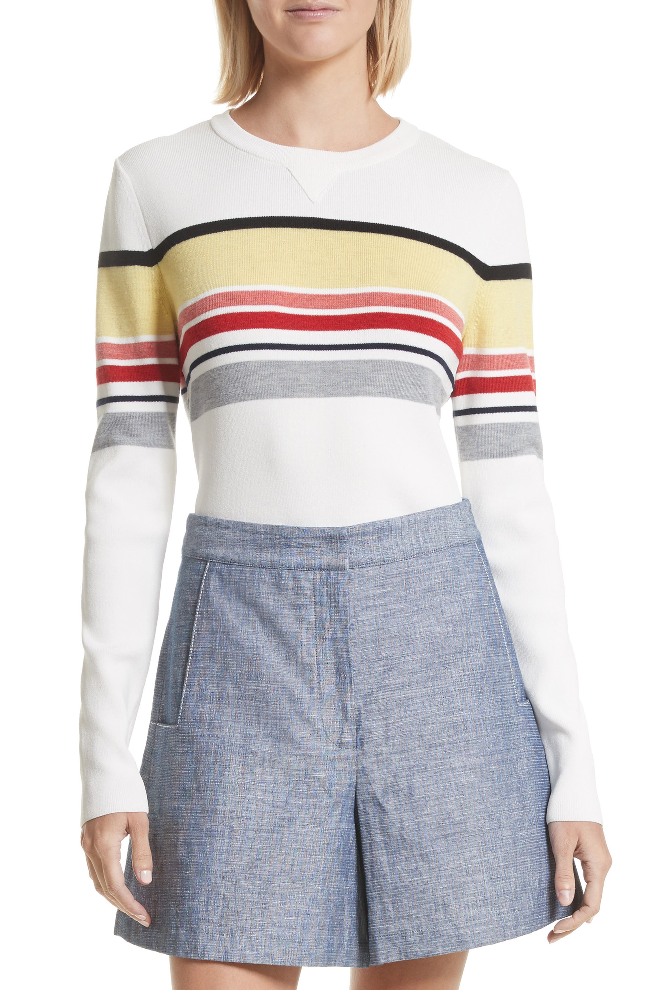 Stripe Sweater,                             Main thumbnail 1, color,                             906