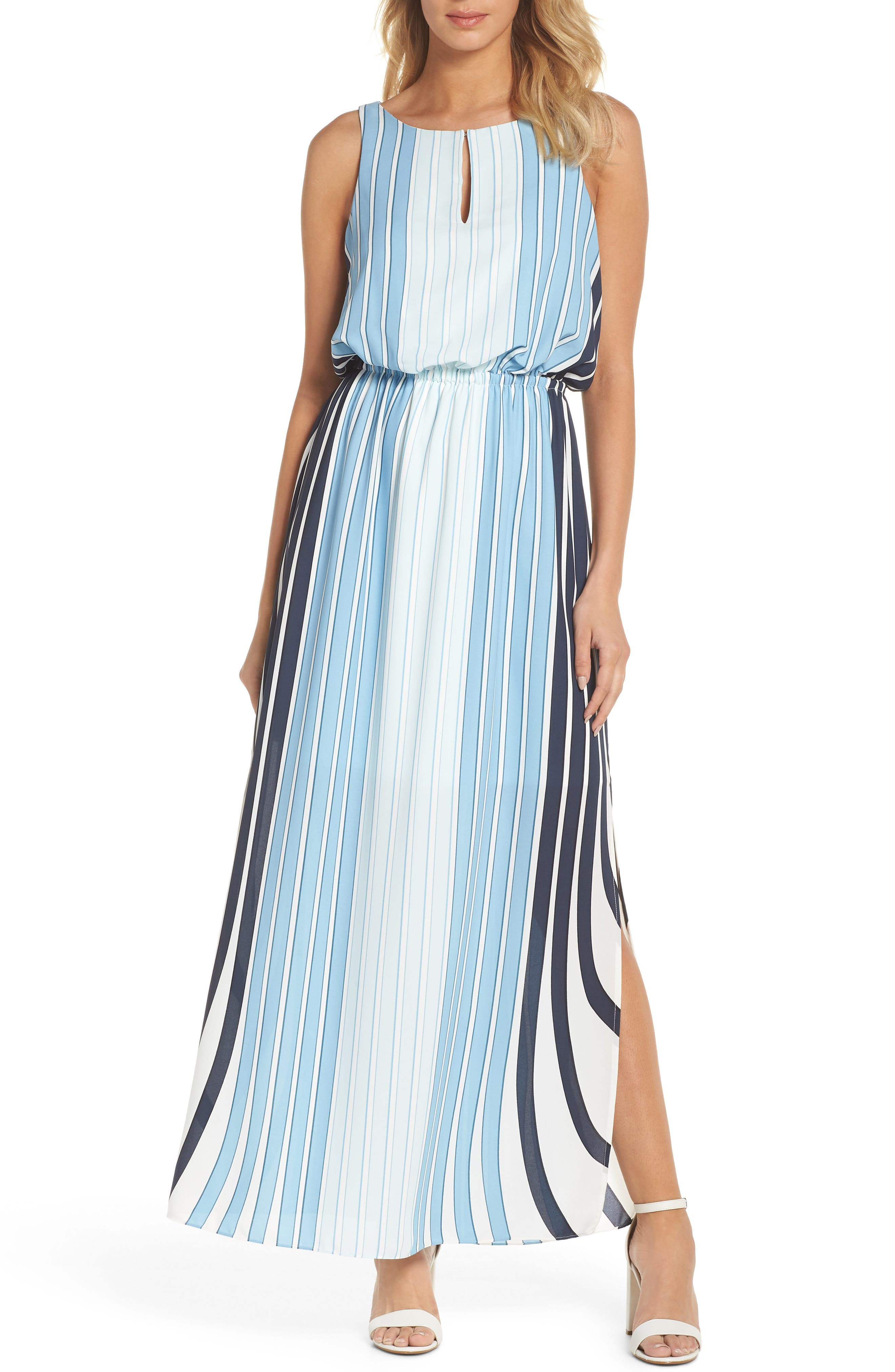 Stripe Maxi Dress,                             Main thumbnail 1, color,                             487