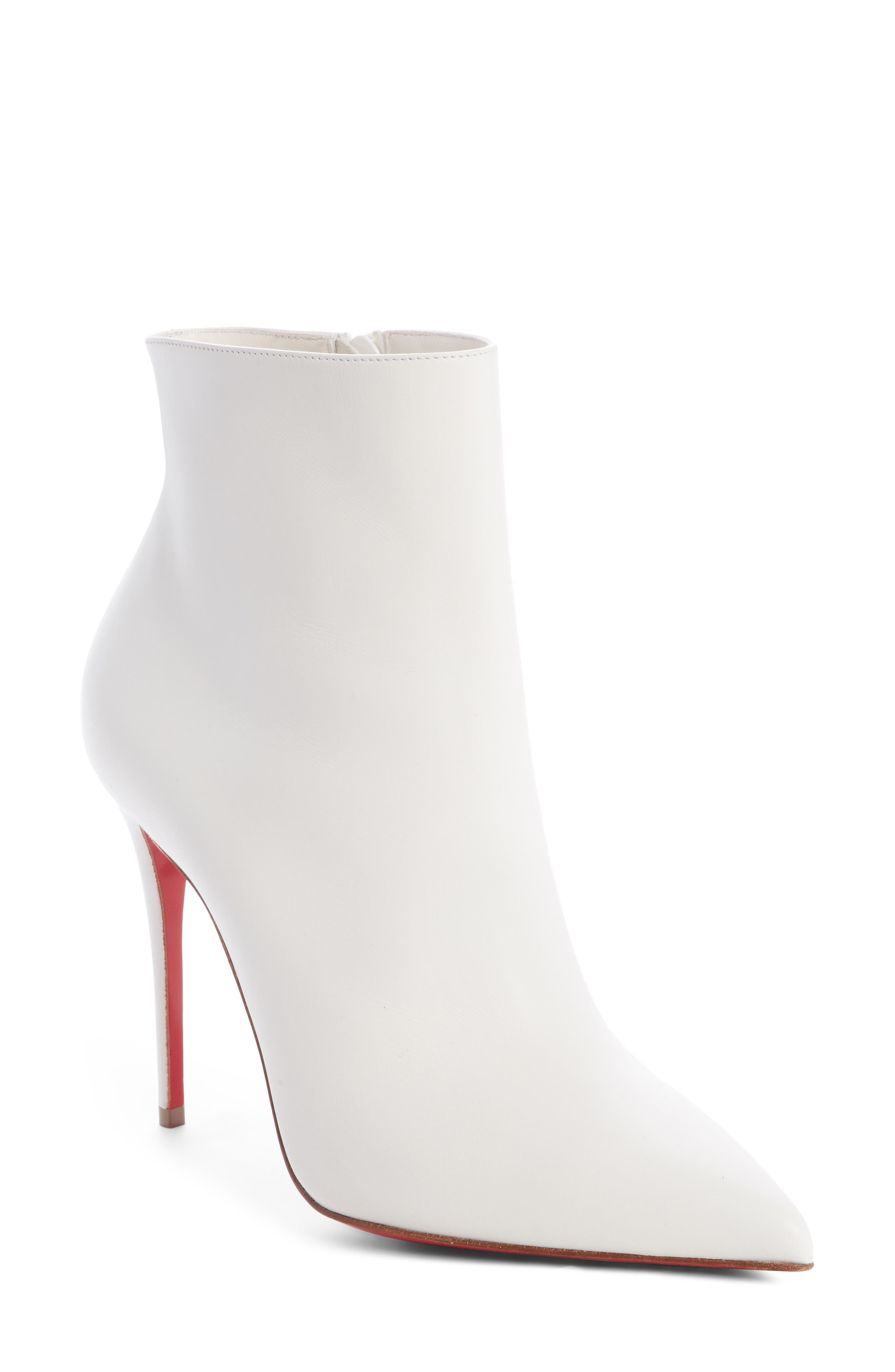 CHRISTIAN LOUBOUTIN So Kate Pointy Toe Bootie, Main, color, SNOW WHITE