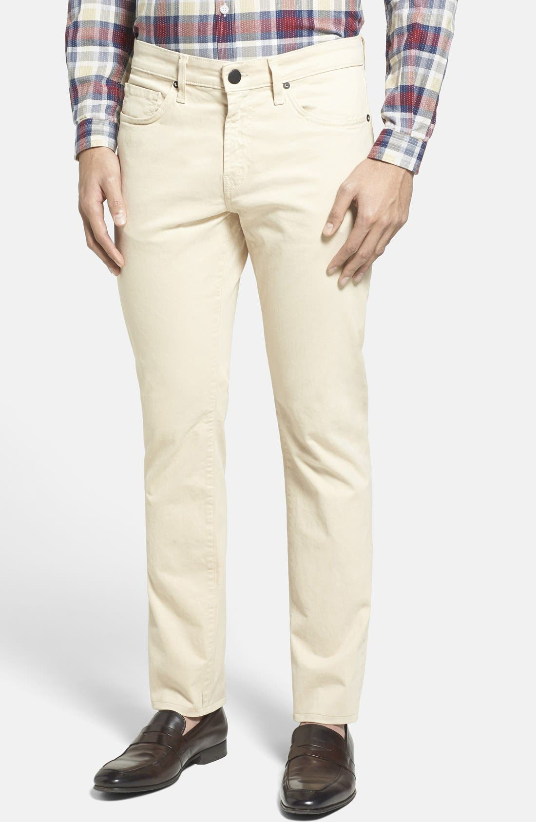 'Kane' Slim Fit Cotton Twill Pants,                             Main thumbnail 10, color,