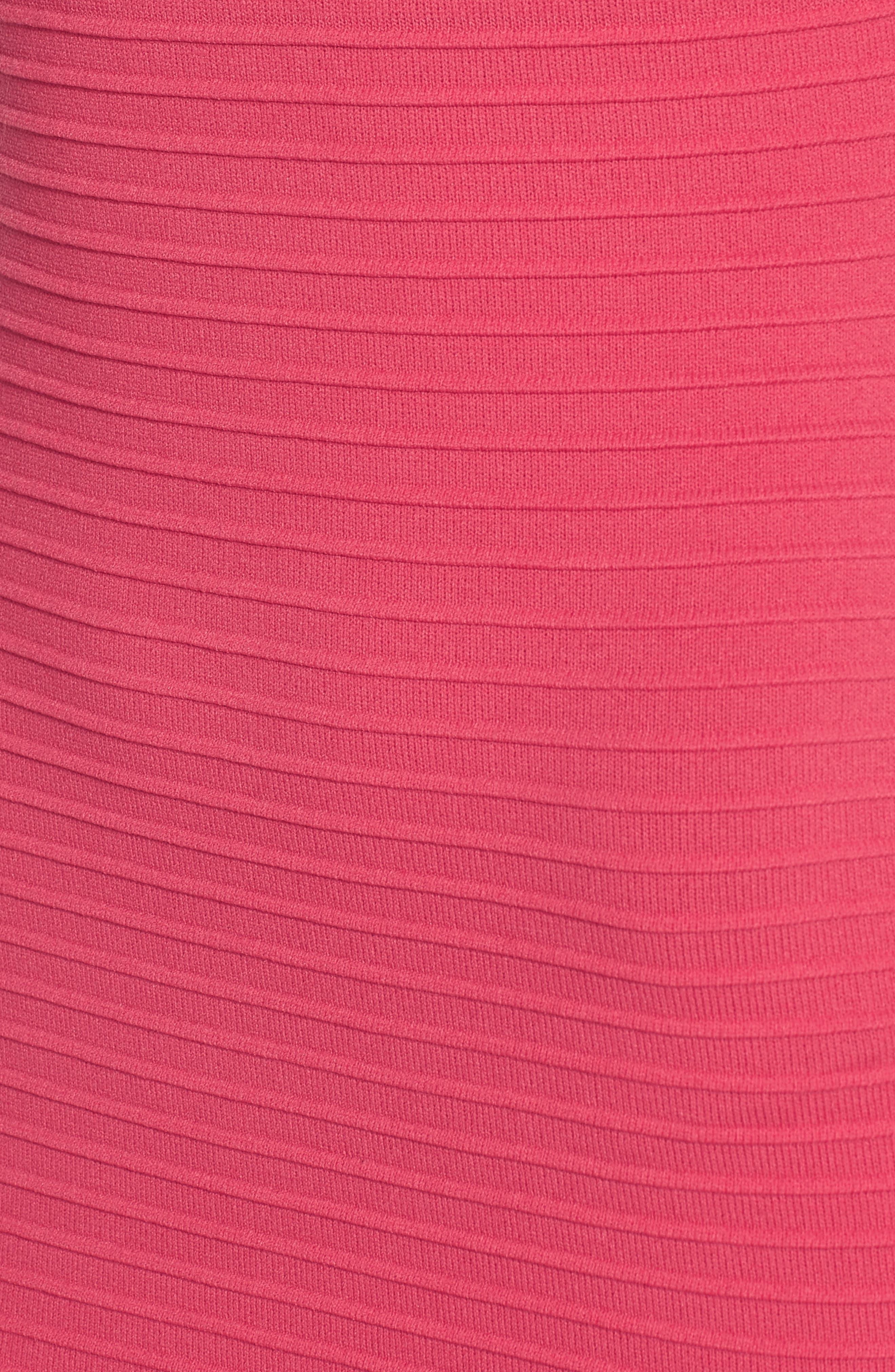 Open Weave Body-Con Dress,                             Alternate thumbnail 6, color,                             650