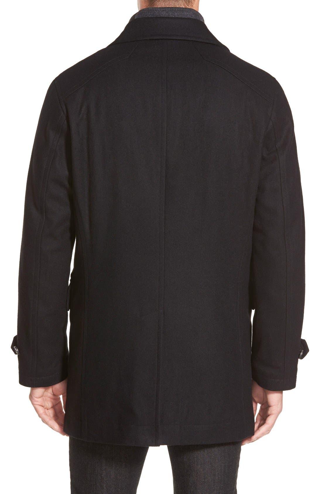 MICHAEL KORS,                             Car Coat,                             Alternate thumbnail 3, color,                             001
