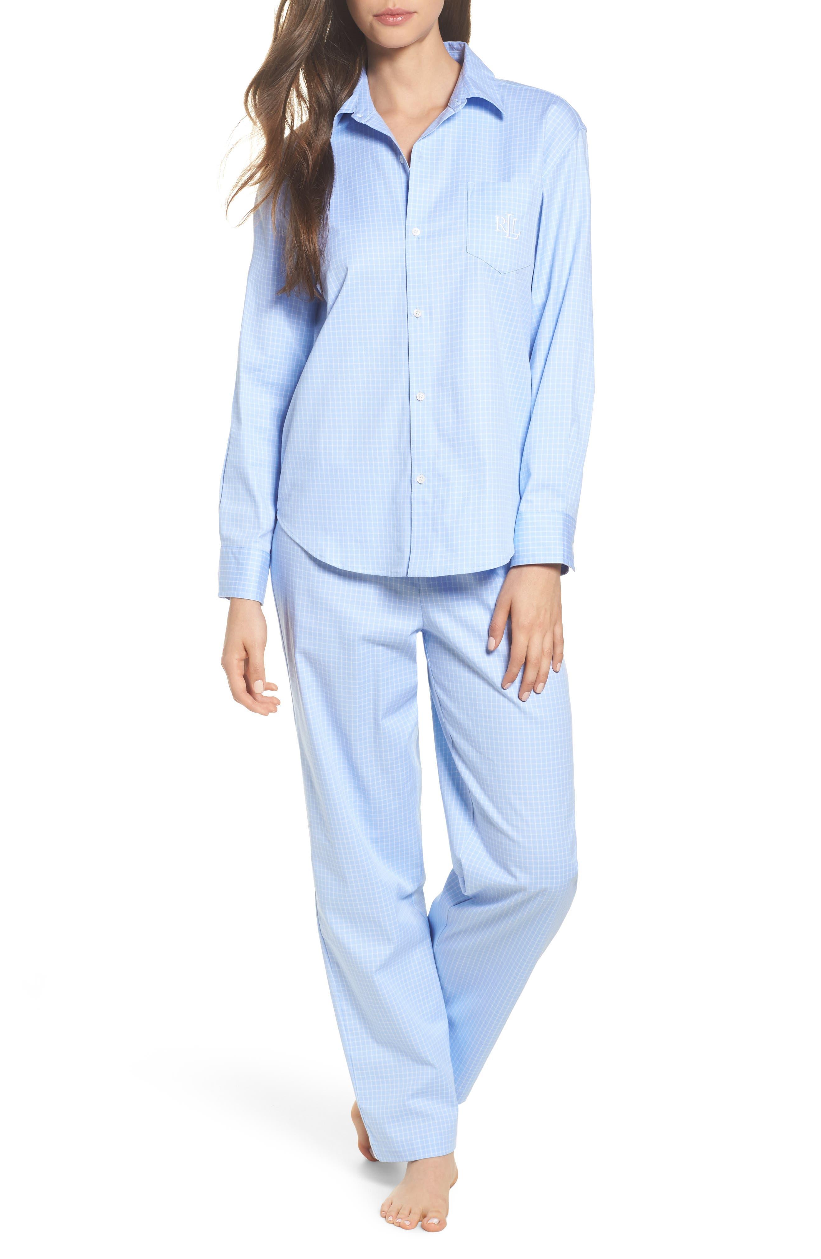 Stretch Cotton Pajamas,                         Main,                         color,