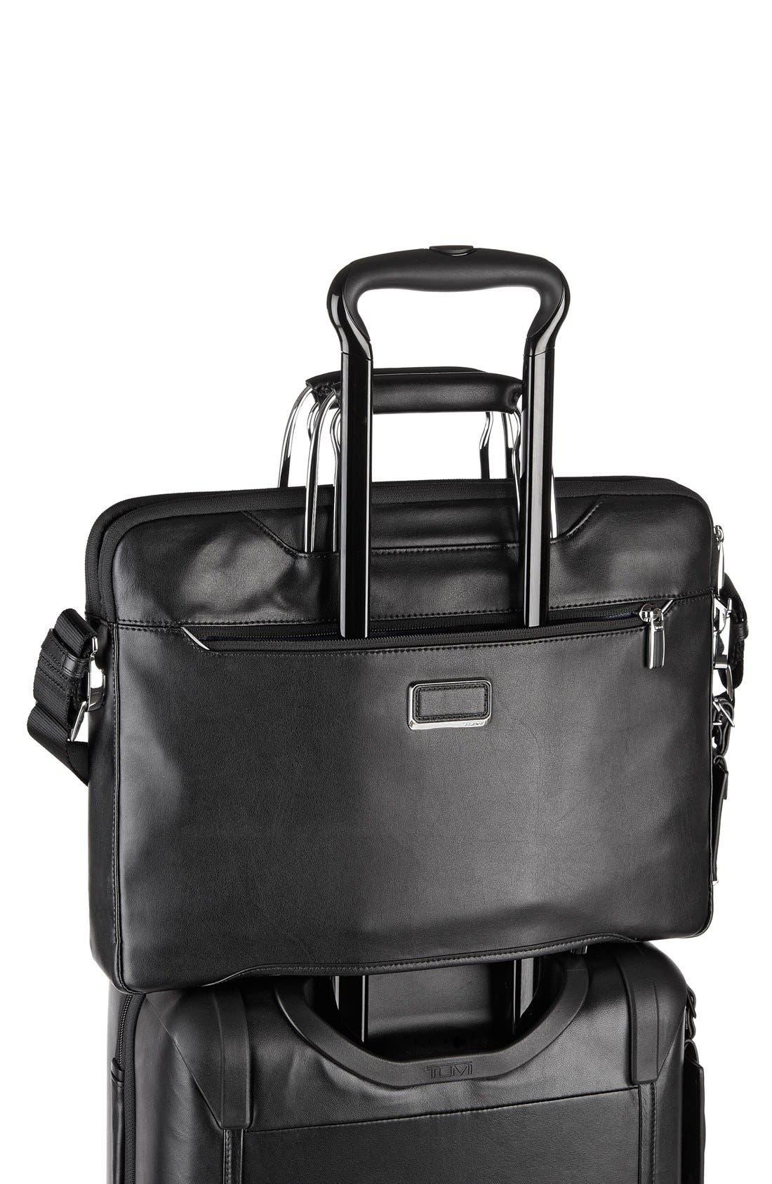 'Arrivé - Hamilton' Leather Briefcase,                             Alternate thumbnail 3, color,                             007